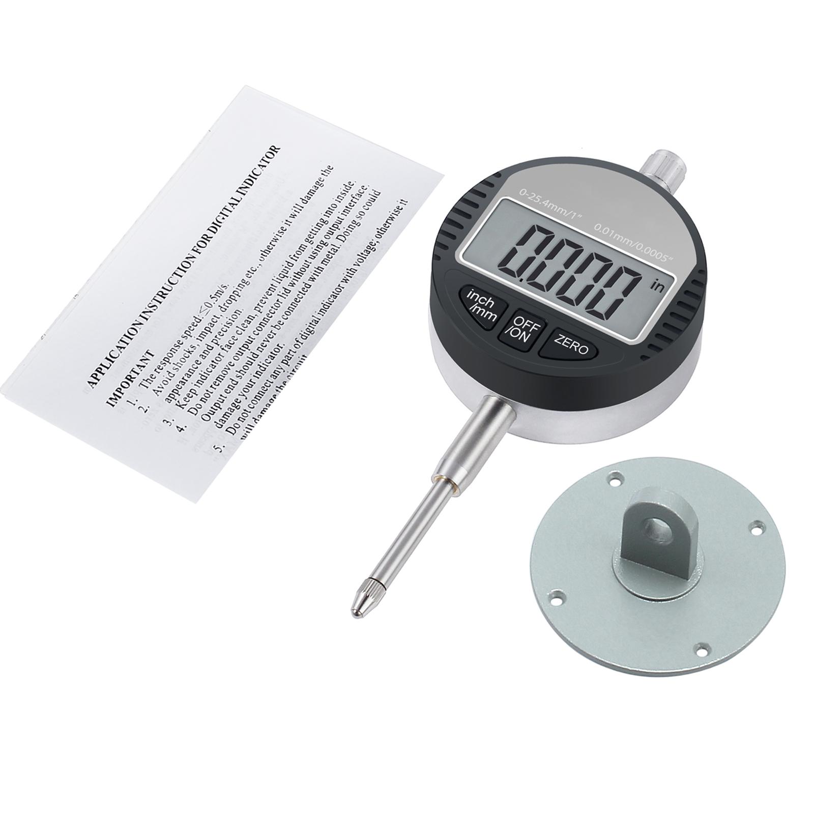 Comparateur Centésimal Indicateur Numérique  0.01mm//0.0005/' 0-12.7mm,JF
