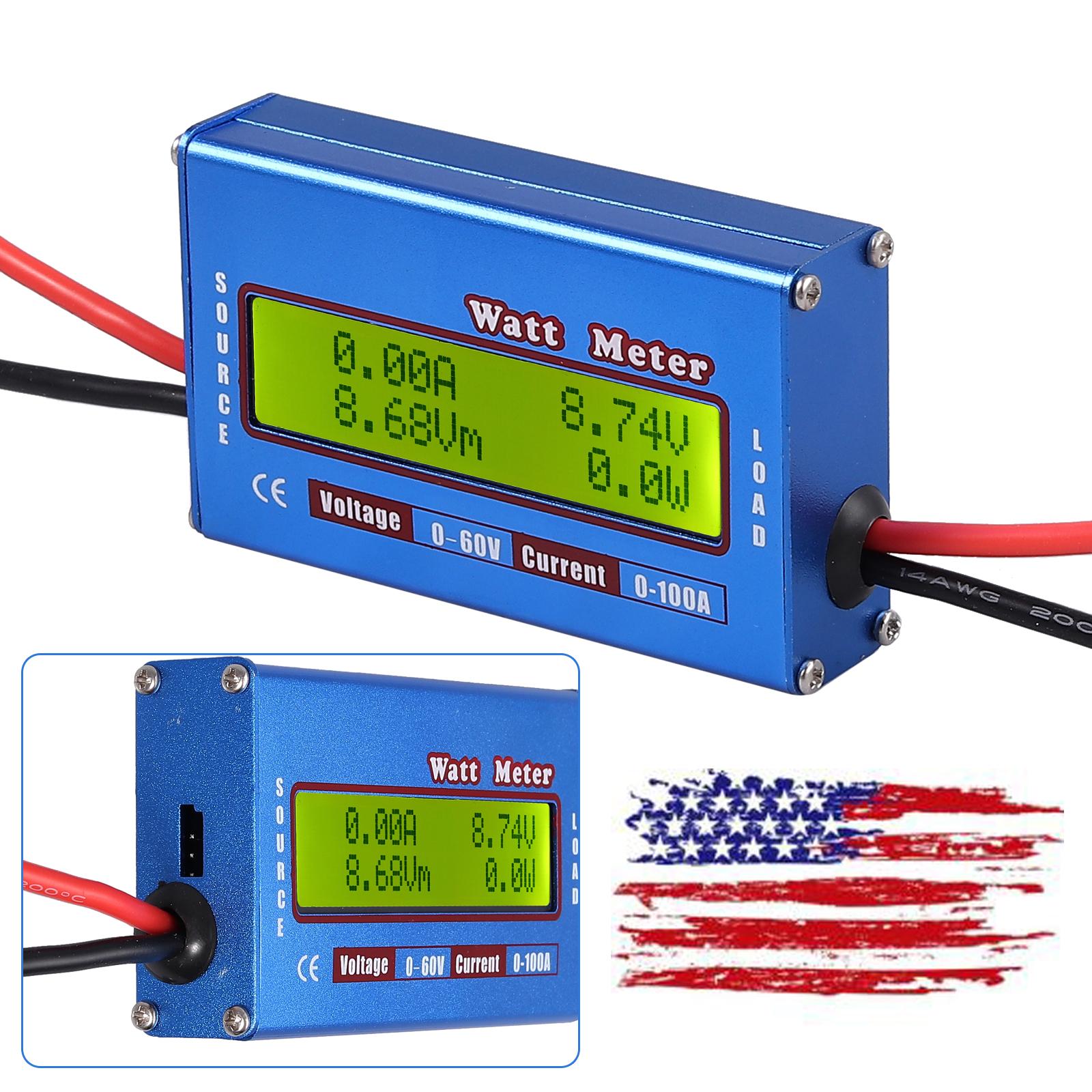 Digital Voltage Wattmeter Power Analyzer Energy Meter Tester Switch w// Backlight