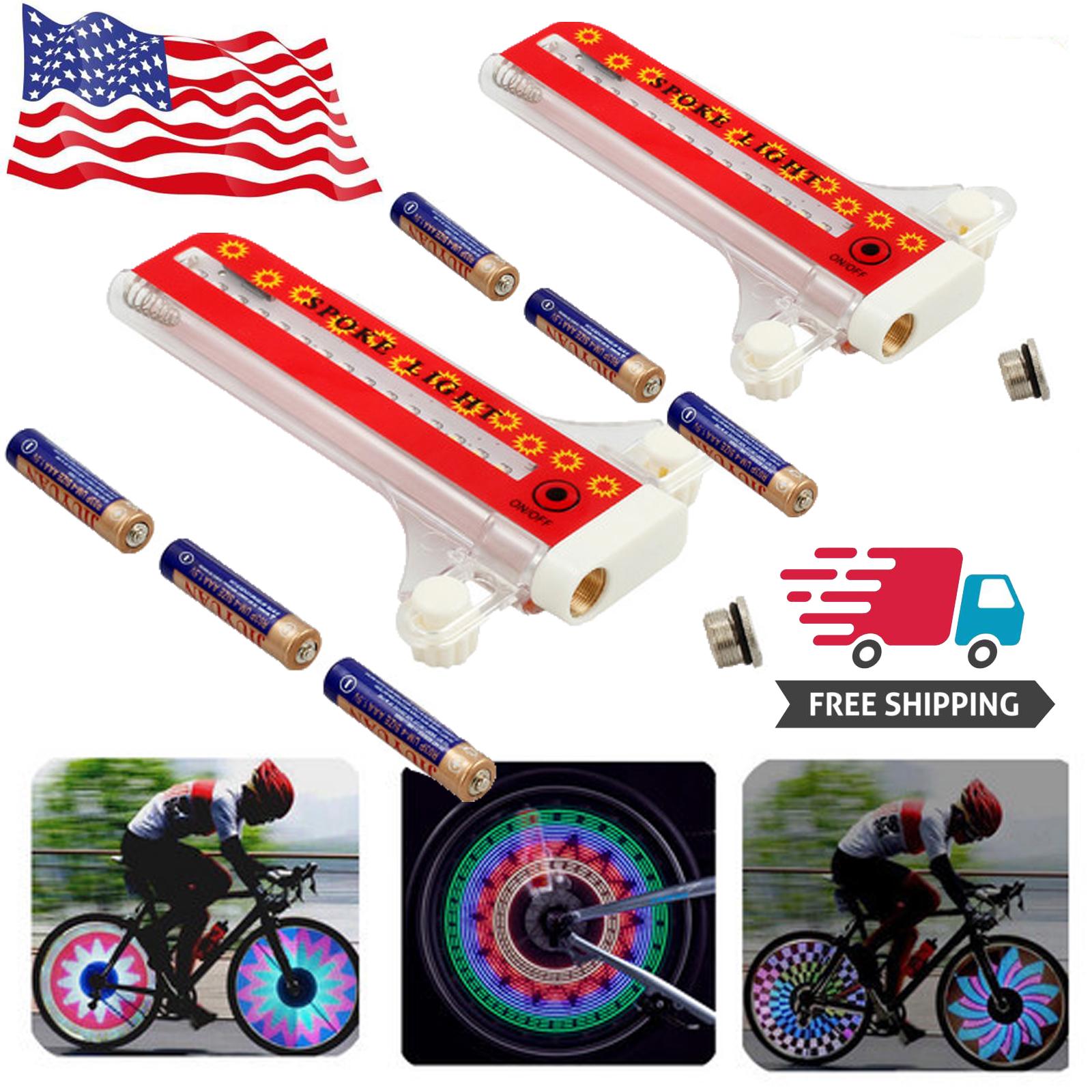 32 LED Colorful Light Rainbow Bicycle Bike Wheel Spoke Flashing Side Tire