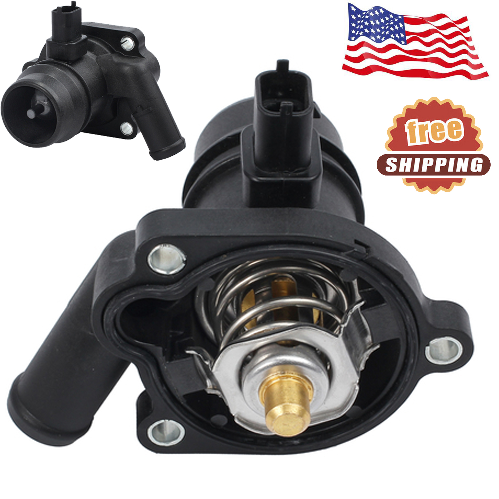 BRAND NEW ENGINE COOLANT THERMOSTAT W// WATER INLET FOR SONIC CRUZE ENCORE