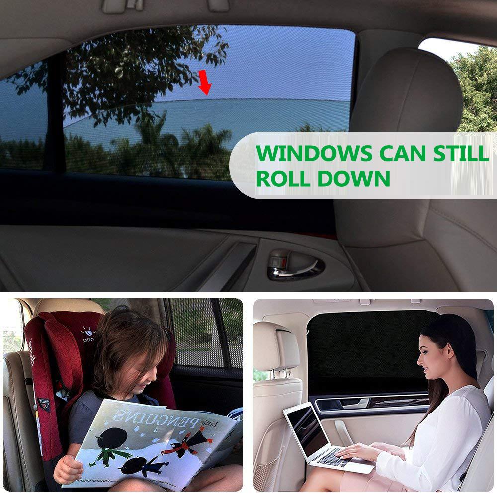 2x sonnenschutz rollo seitenfenster sonnenblende f r auto. Black Bedroom Furniture Sets. Home Design Ideas