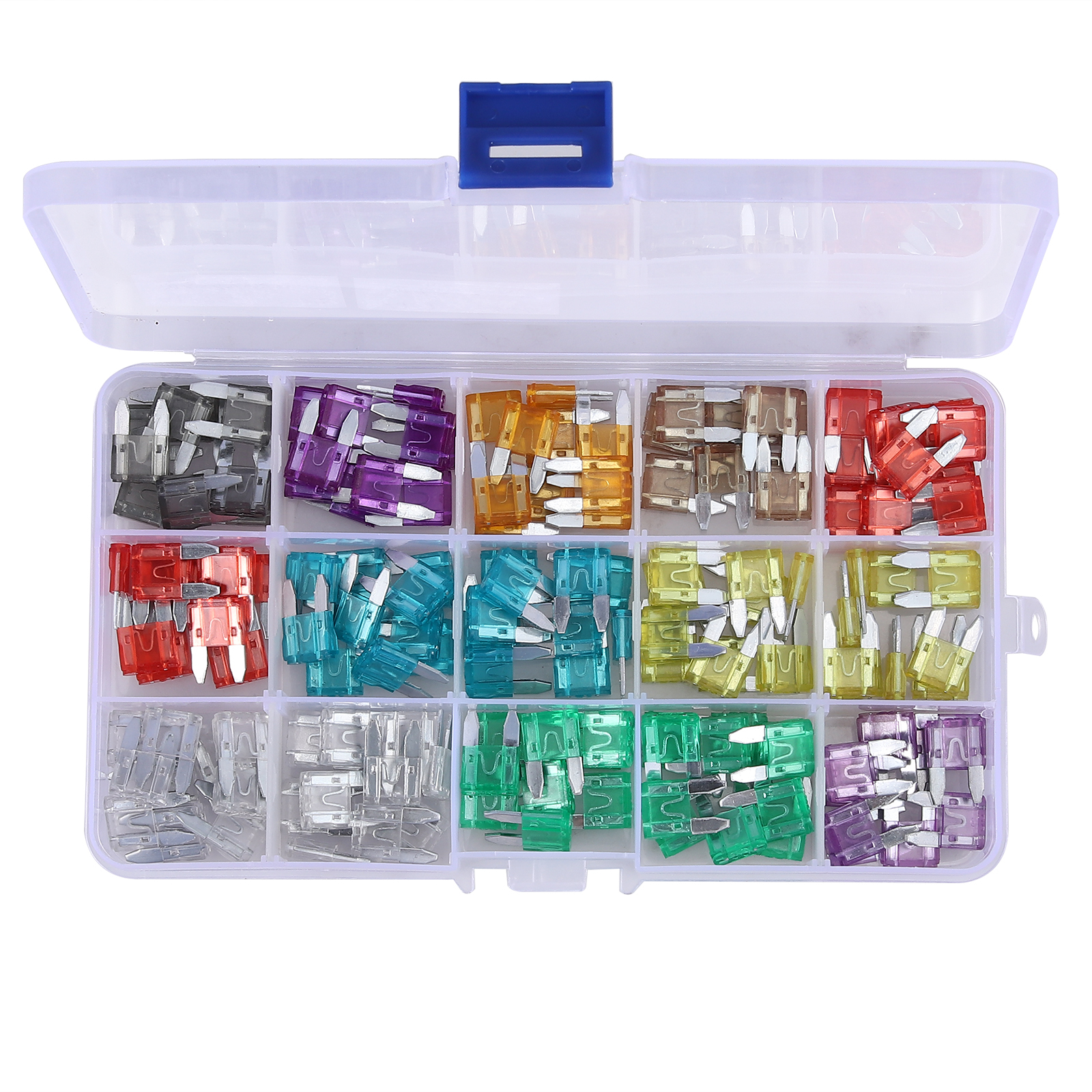 22 PACK FUSES WITH PULLER CAR FUSE CAR TRUCK SUV FUSE BOX IN STORAGE BOX NEW
