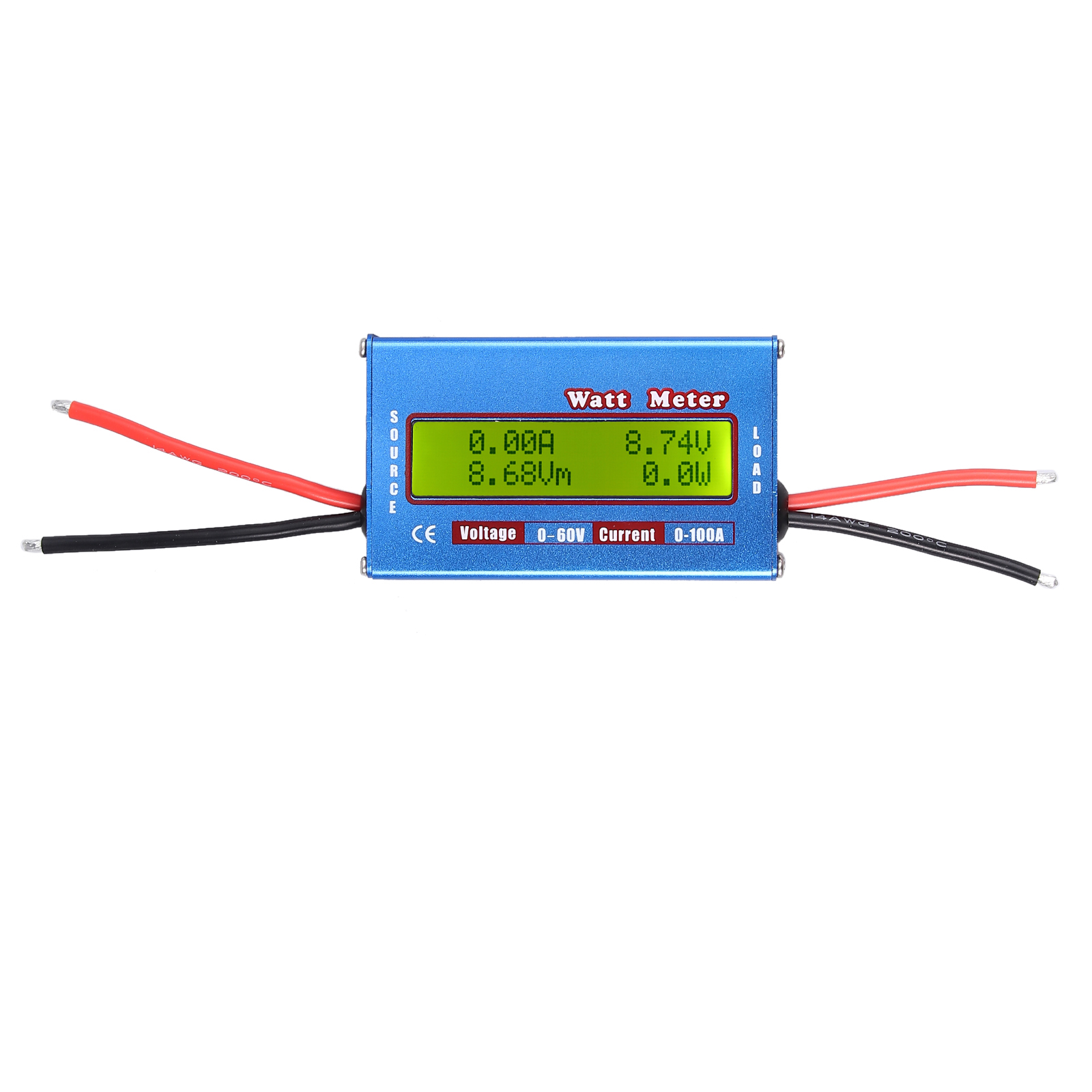 Digitale LCD Akku Balancen Power Analyzer Watt DC Meter 60V//100A Leistungsmesser