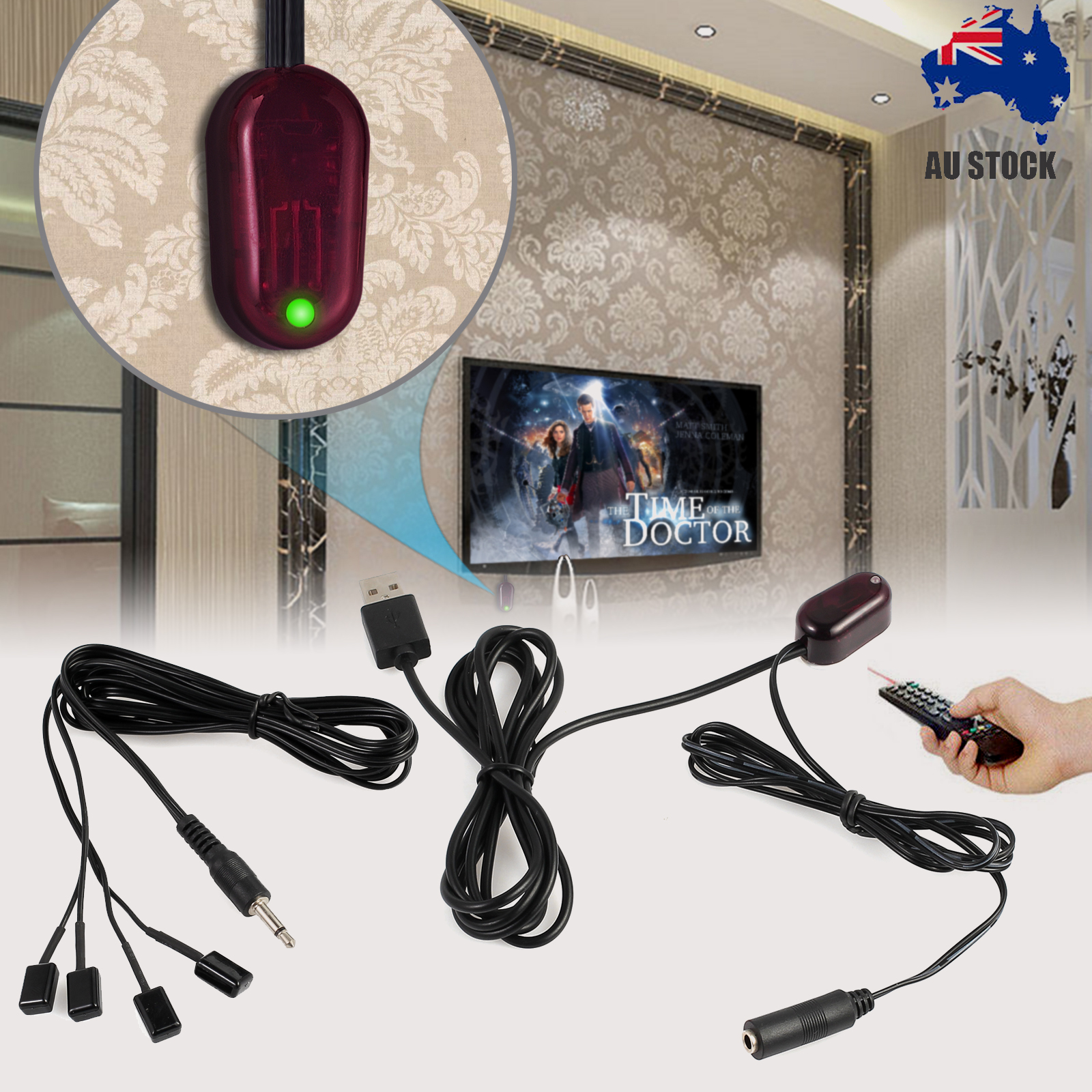 Details about Hidden IR Infrared Remote Extender Control System Repeater 4  Emitter 1 Receiver