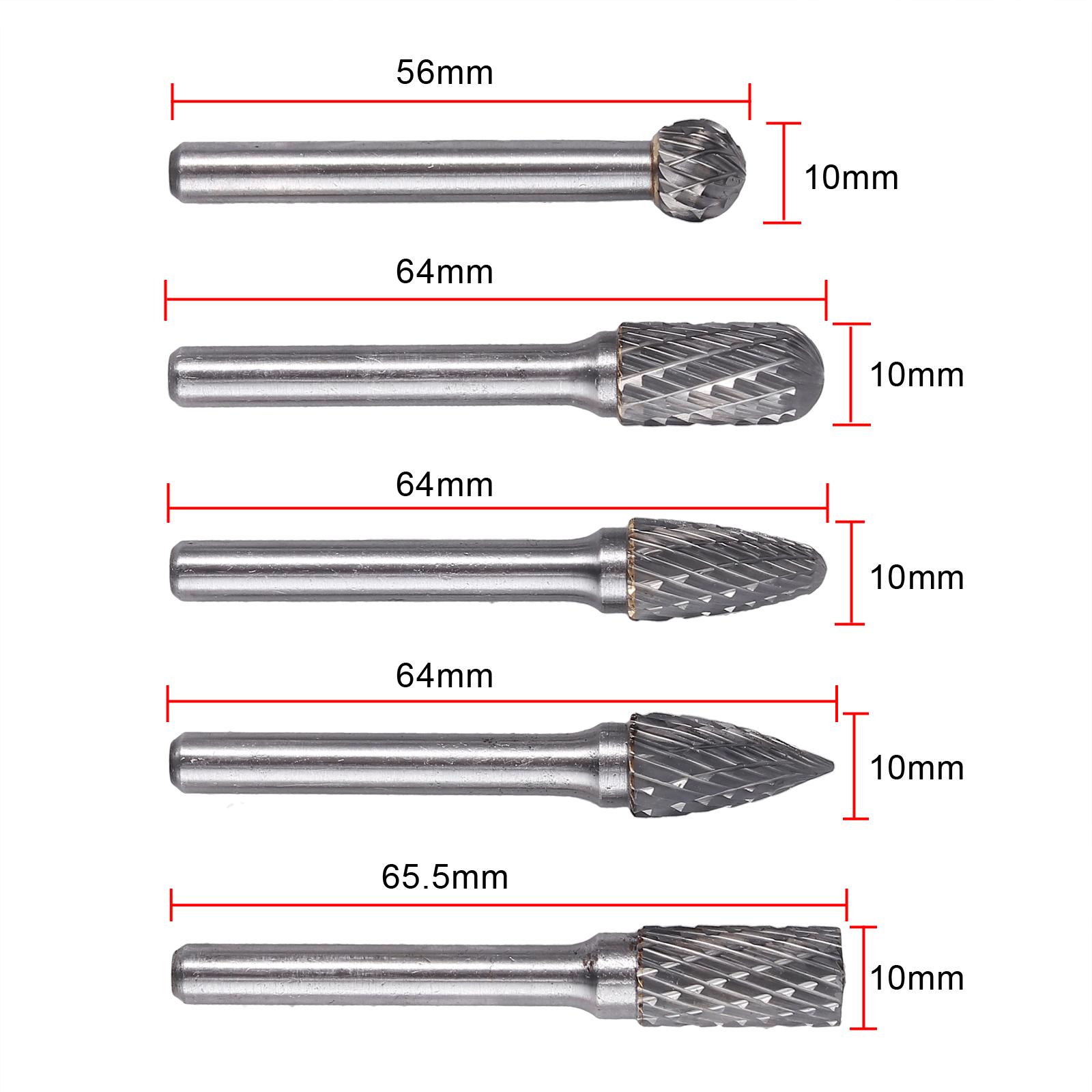 """10 Stück 1//8/"""" 6mm Frässtift Wolframcarabid Hartmetallfräser Schaftfräser Fräser"""