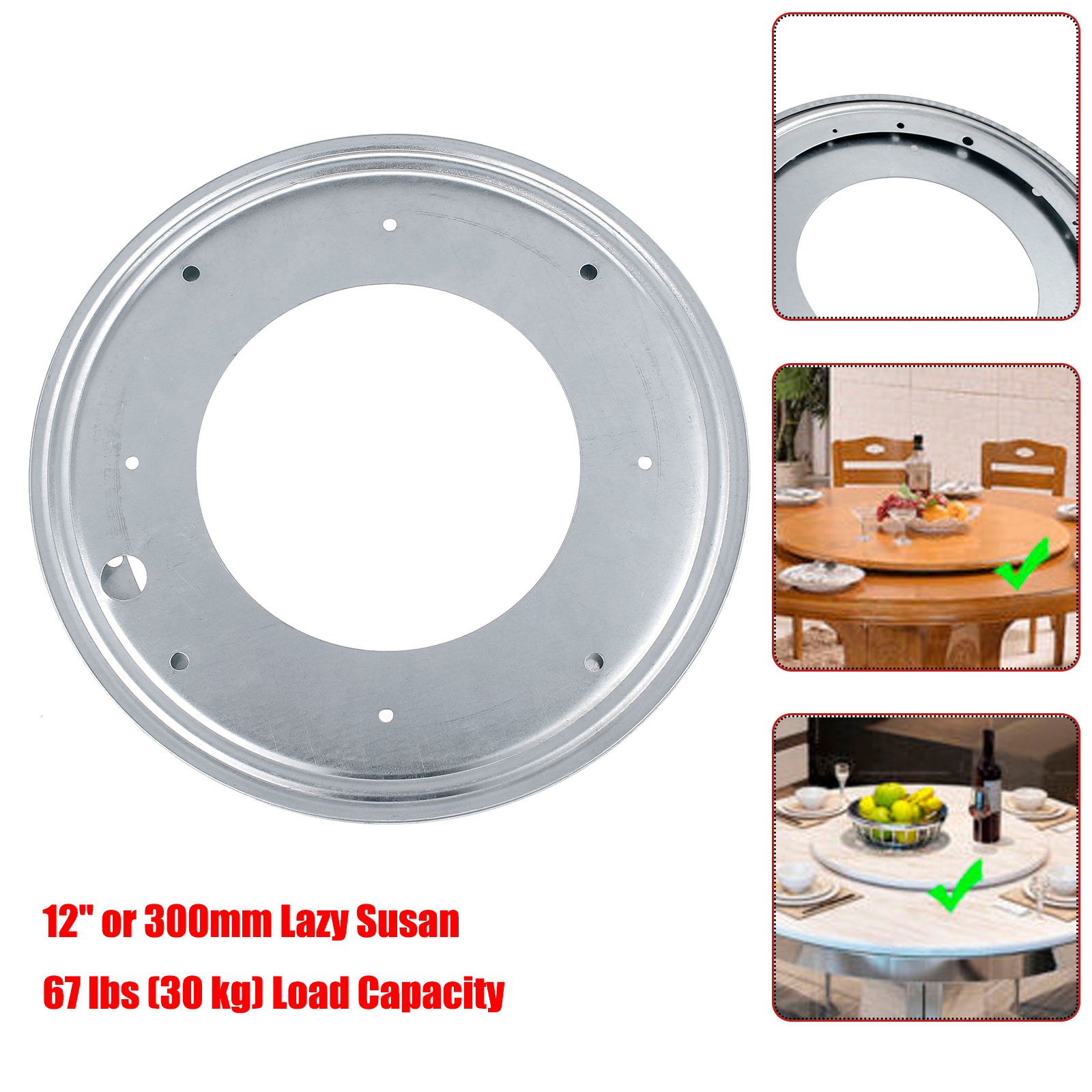 "LAZY SUSAN BEARING 12/"" or 300mm Swivel Turntable Bearing Heavy Duty NEW!!"