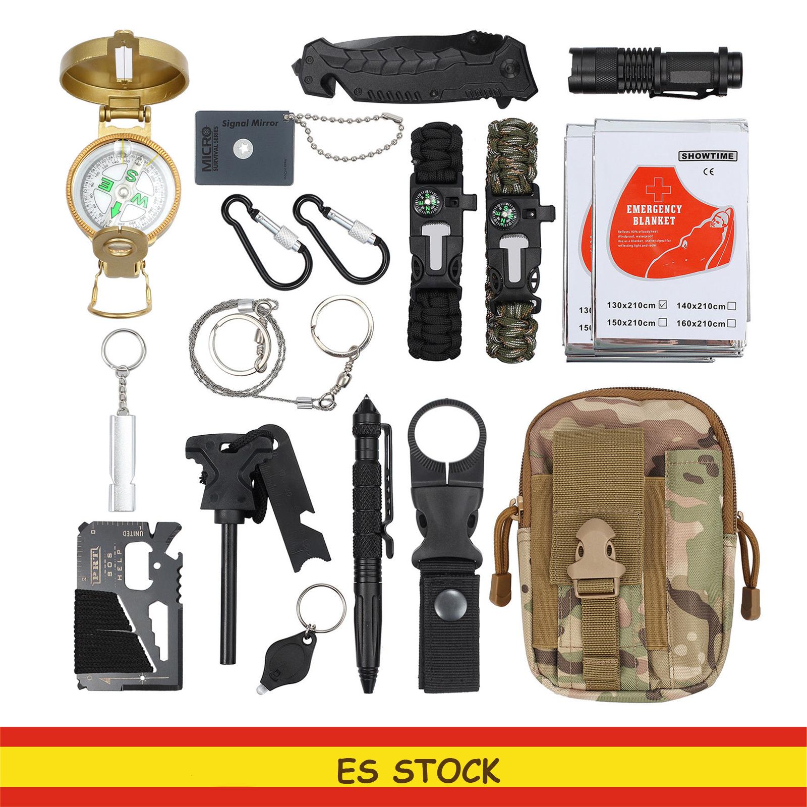 Kit de Supervivencia Profesional de Emergencia para excursión Camping 18 en 1