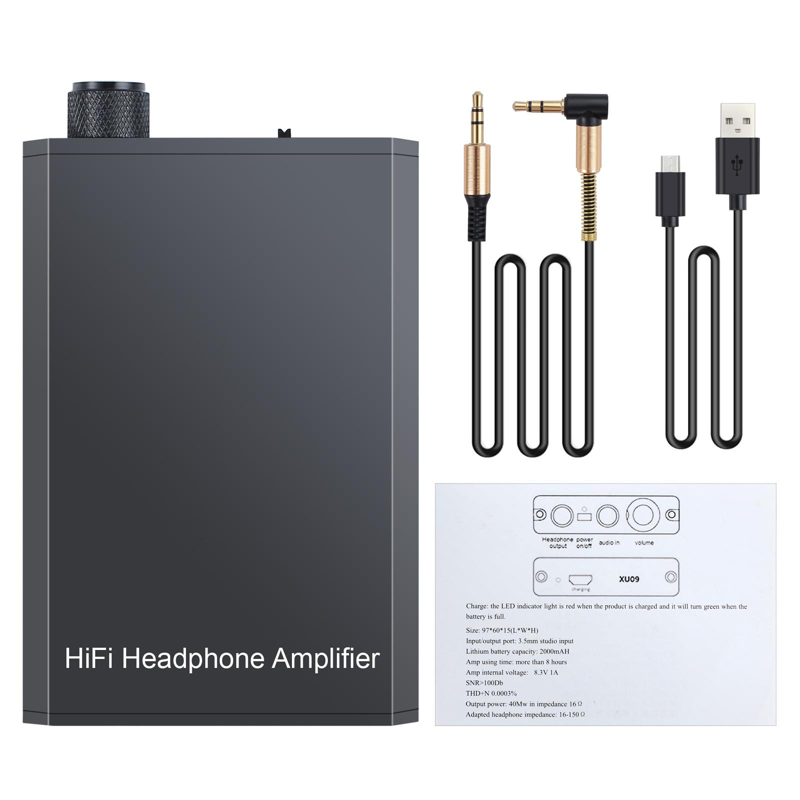 Dettagli su HiFi Amplificatore per Cuffie Amplifier per MP3 Smartphone Laptop + USB Cavo