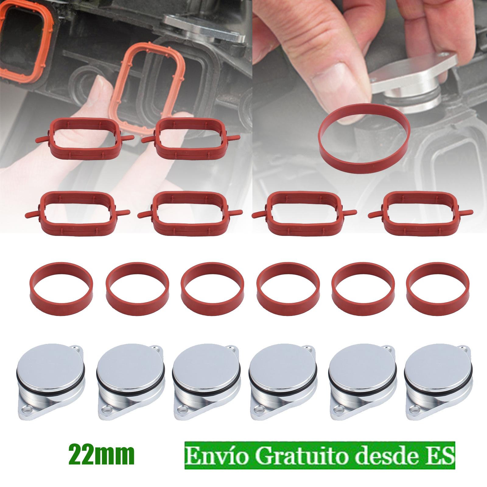 Drallklappen set 4x 22mm rojo ansaugbrücke con O-Ring juntas para bmw 3er e46