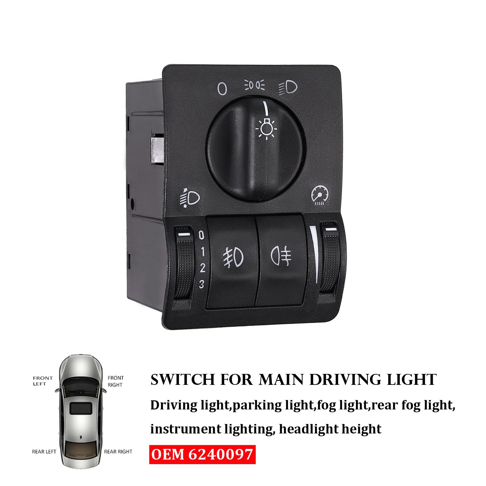 VAUXHALL ASTRA G 90437440 LIGHT SWITCH KNOB MAIN LIGHT SWITCH FOR OPEL