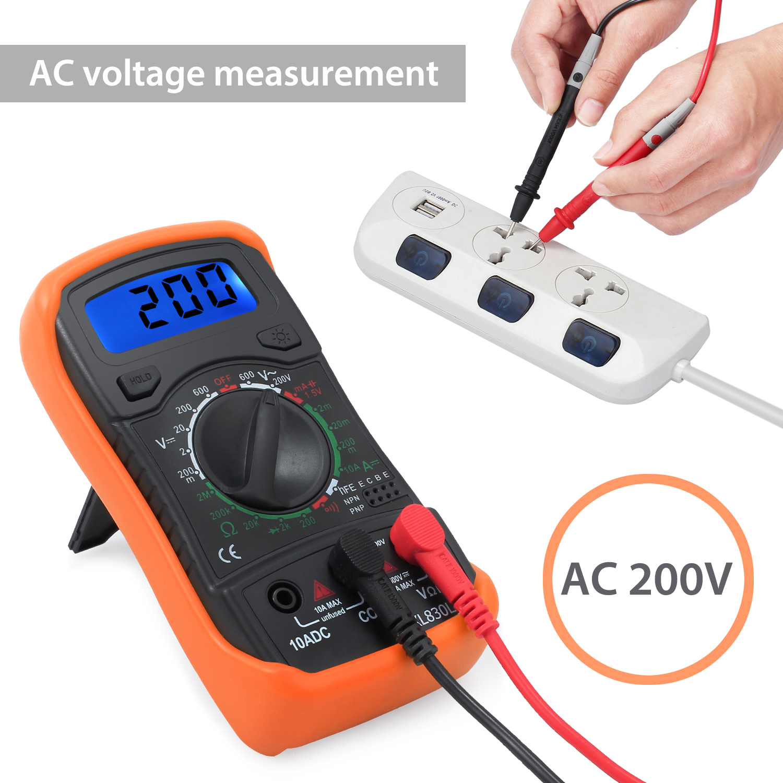 New Test Kit LCD Digital Multimeter Non-contact Voltage Tester Pen+Socket Tester