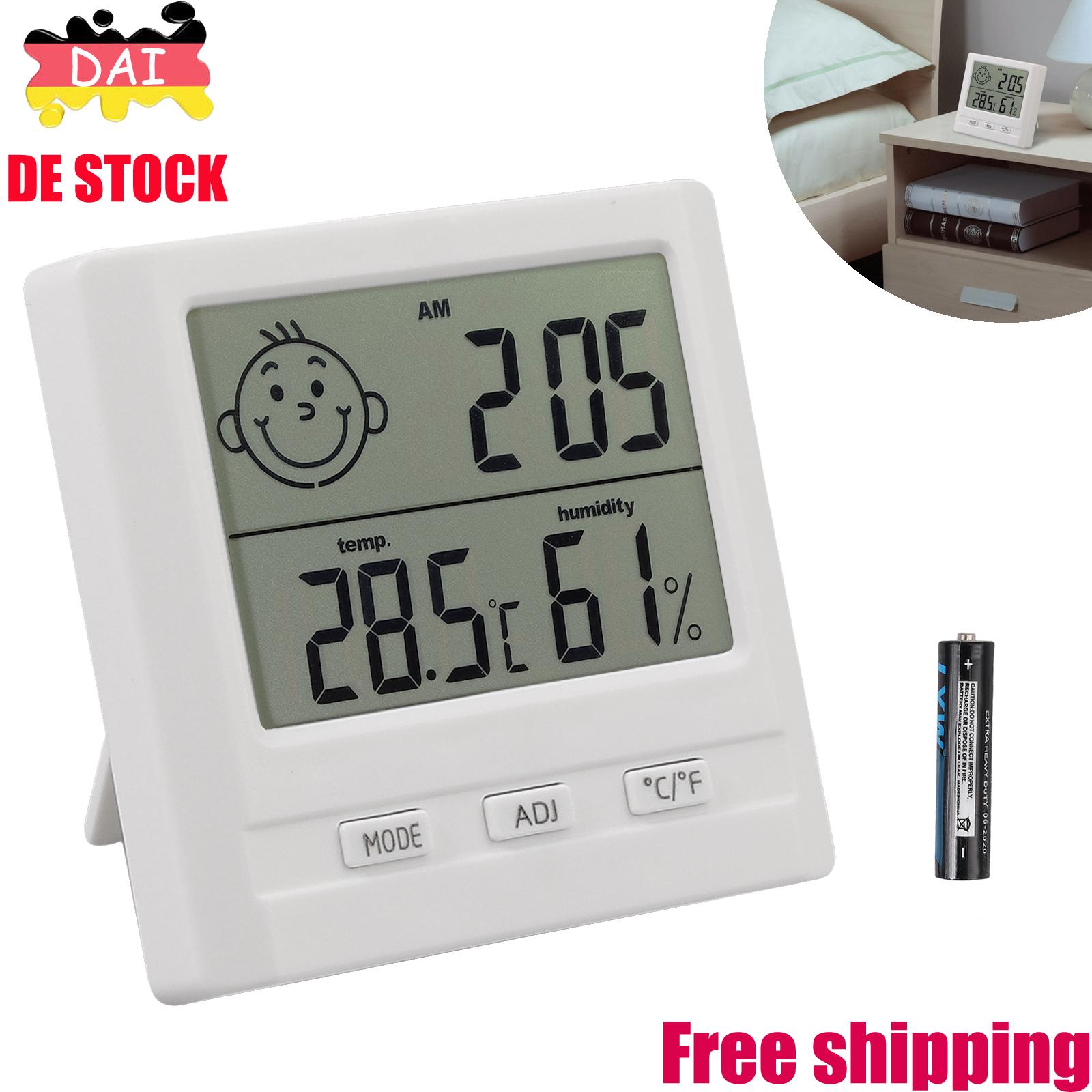 Details zu Digital Thermometer Thermo Hygrometer Temperatur-Feuchte für  Babyraum Wohnzimmer