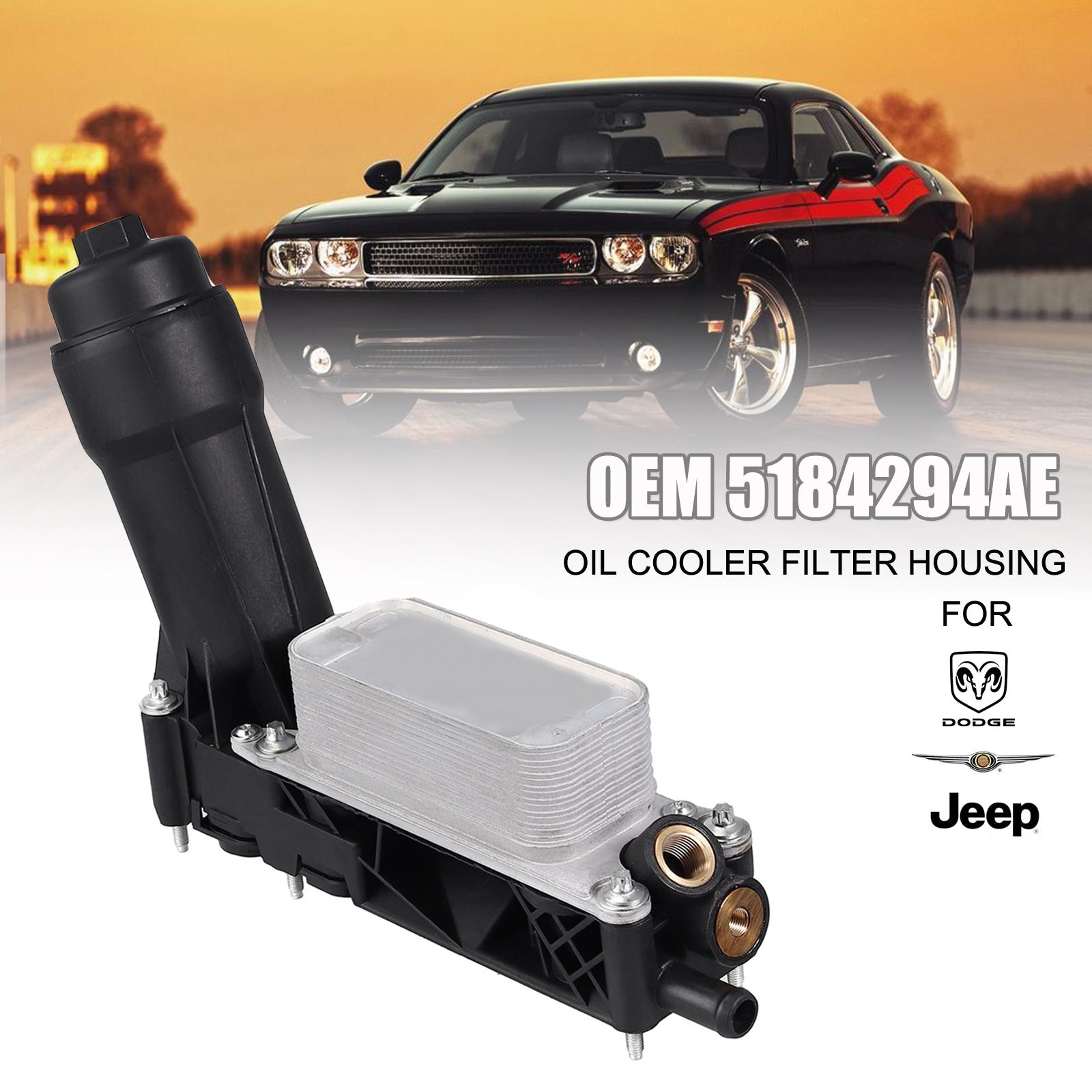 Oil Cooler Filter Housing For 11-13 Jeep Dodge Chrysler Ram 3.6L V6 5184294AE US
