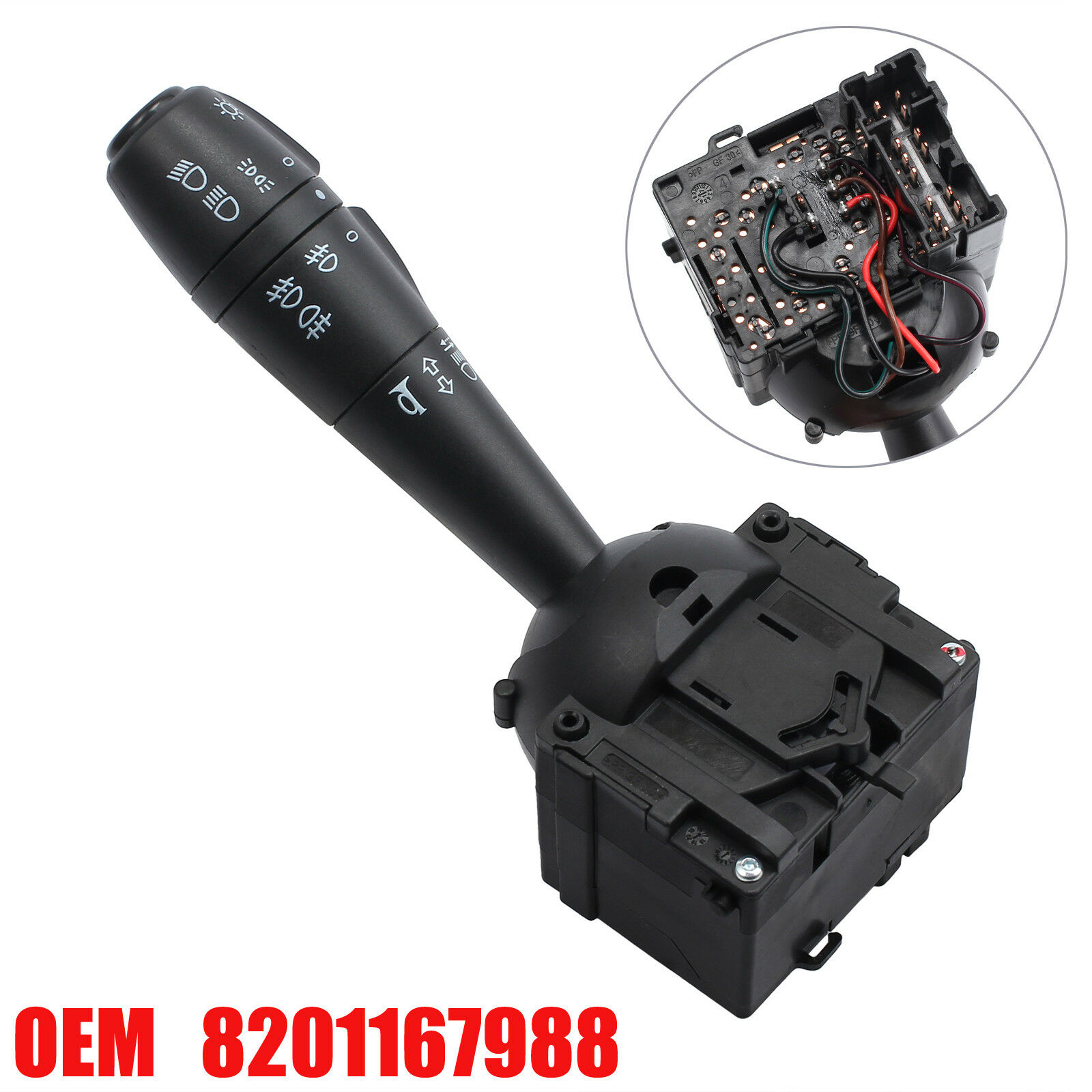 8201167988 Dokker Steering Column Indicator Stalk Switch For Dacia Sandero Lodgy