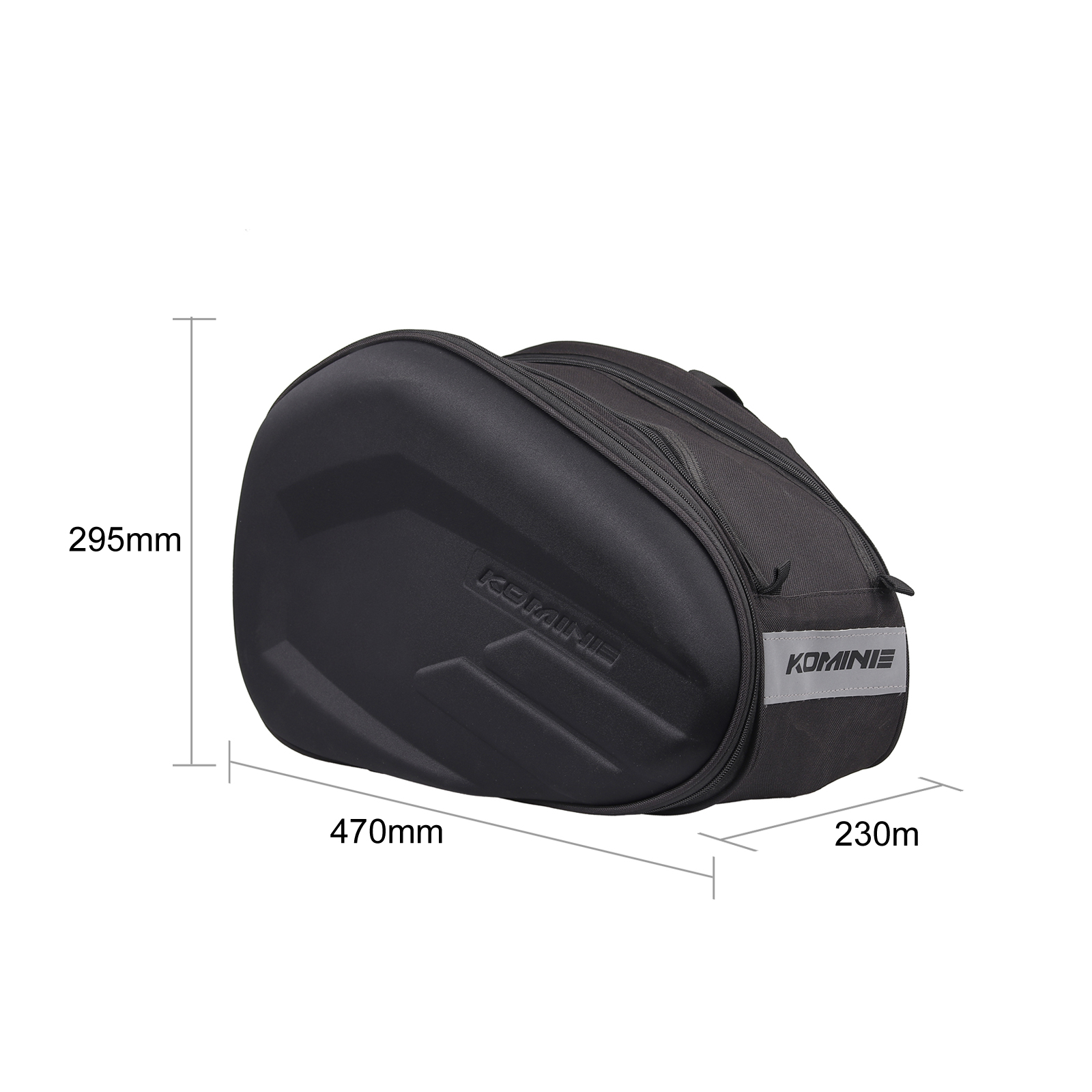 Motorcycle Pannier Saddle Bags Side Luggage Bags Rain Cover 36-58L Universal