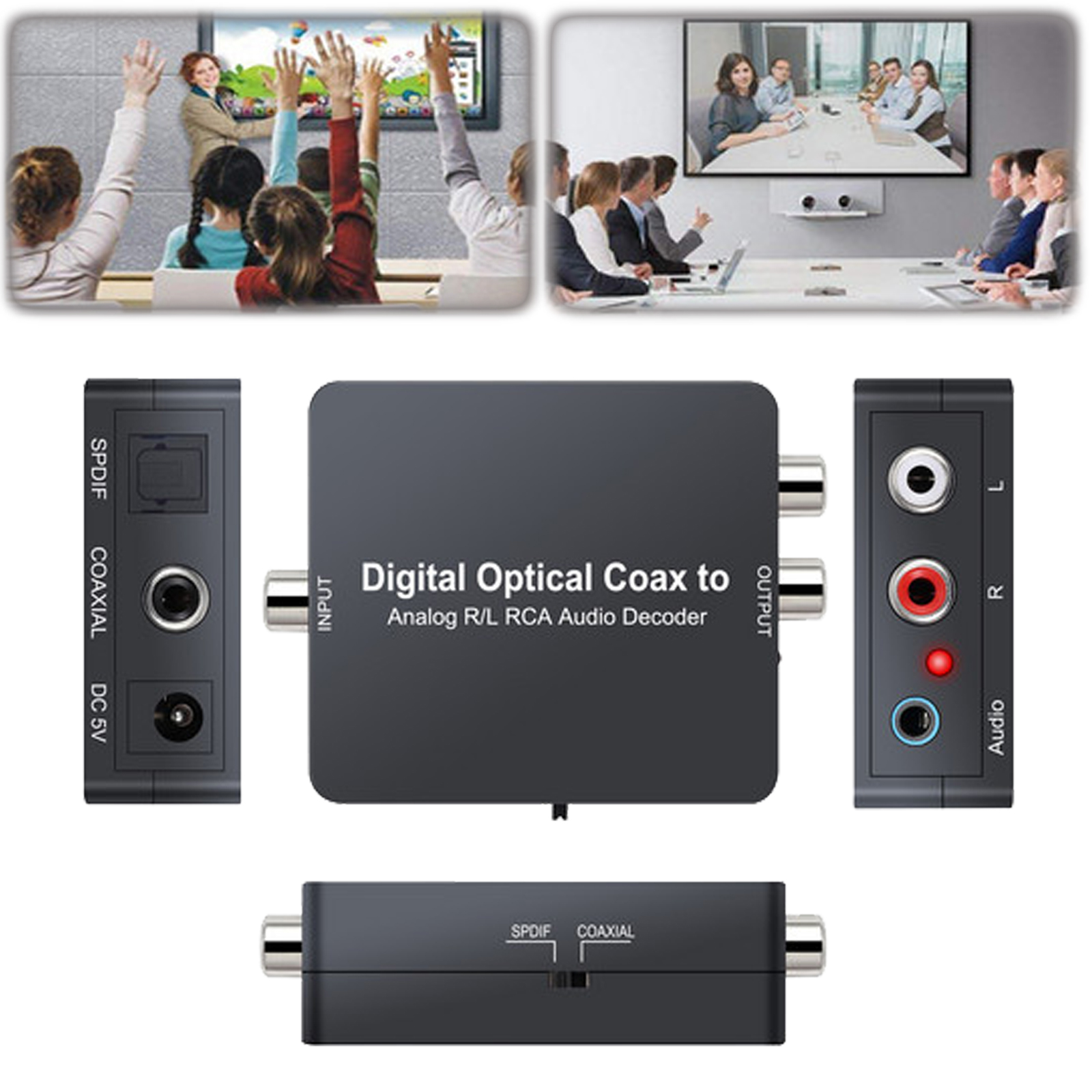 Optical Coaxial Dolby Digital AC-3 DTS to Analog R//L RCA Audio Decoder Converter
