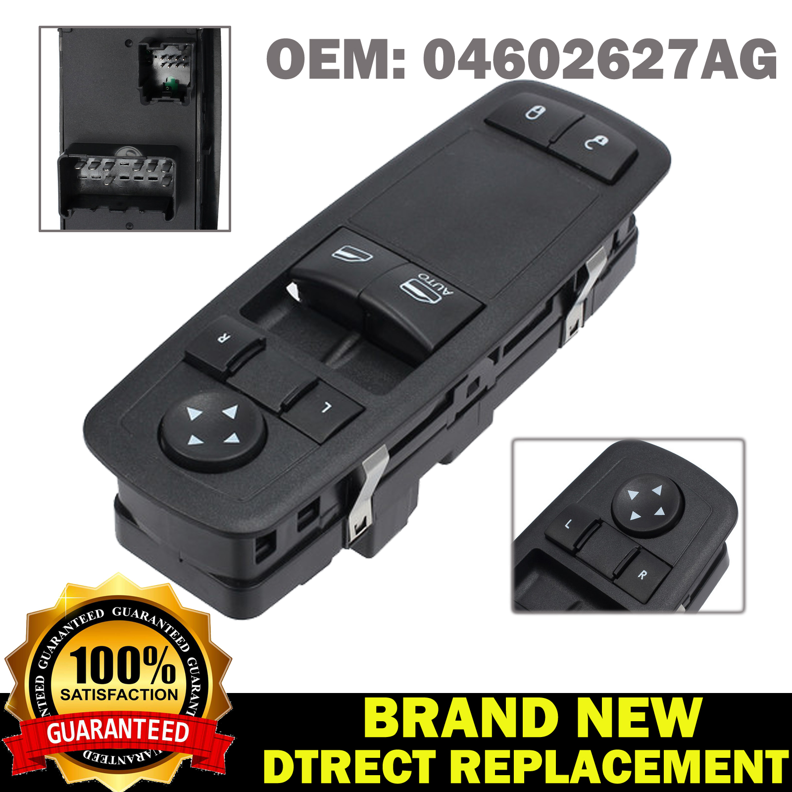 01-05 DODGE CARAVAN TOWN /& COUNTRY DRIVER LEFT SIDE MASTER POWER WINDOW SWITCH