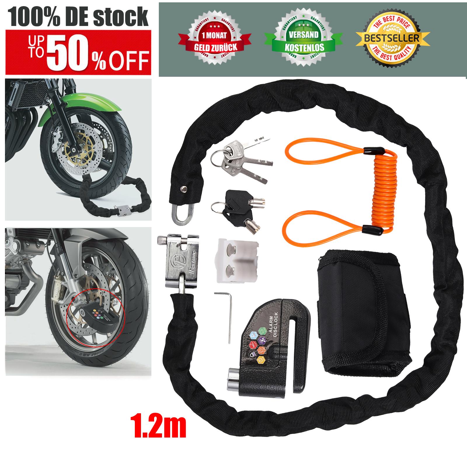 100dB Bremsscheibenschloss Motorrad Roller Fahrrad Alarmanlage  !