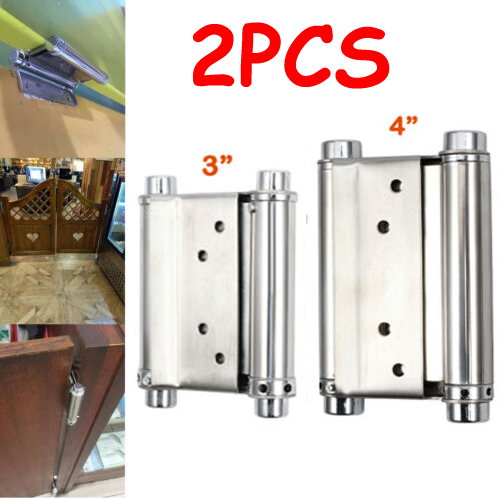 2PCS 5 inch double action spring hinges for swing doors Saloon Cafe