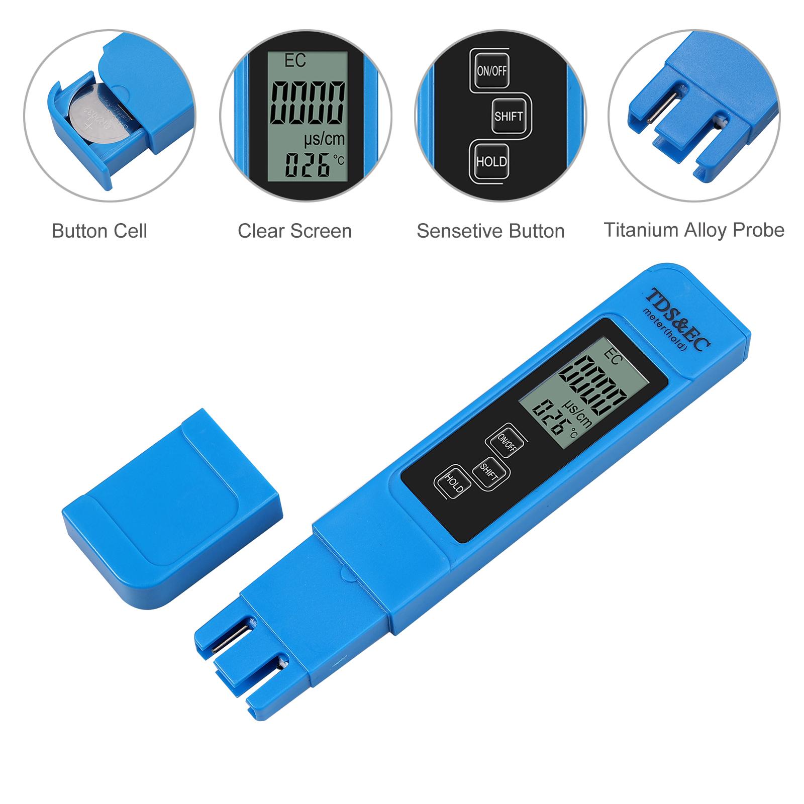 Digital PH Messgerät TDS Wasser Tester Wasserfilter Messgerät Prüfer 0-9990ppm