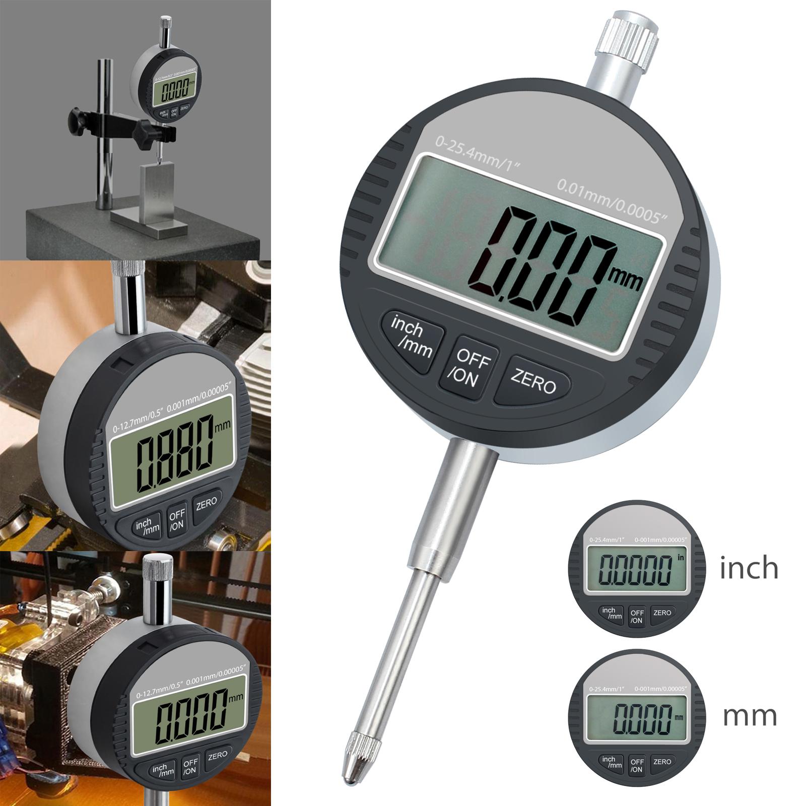 LCD Digital Dial indicator DTI 0.01mm 0.0005 /'/' Range 0-12.7mm Clock Gauge