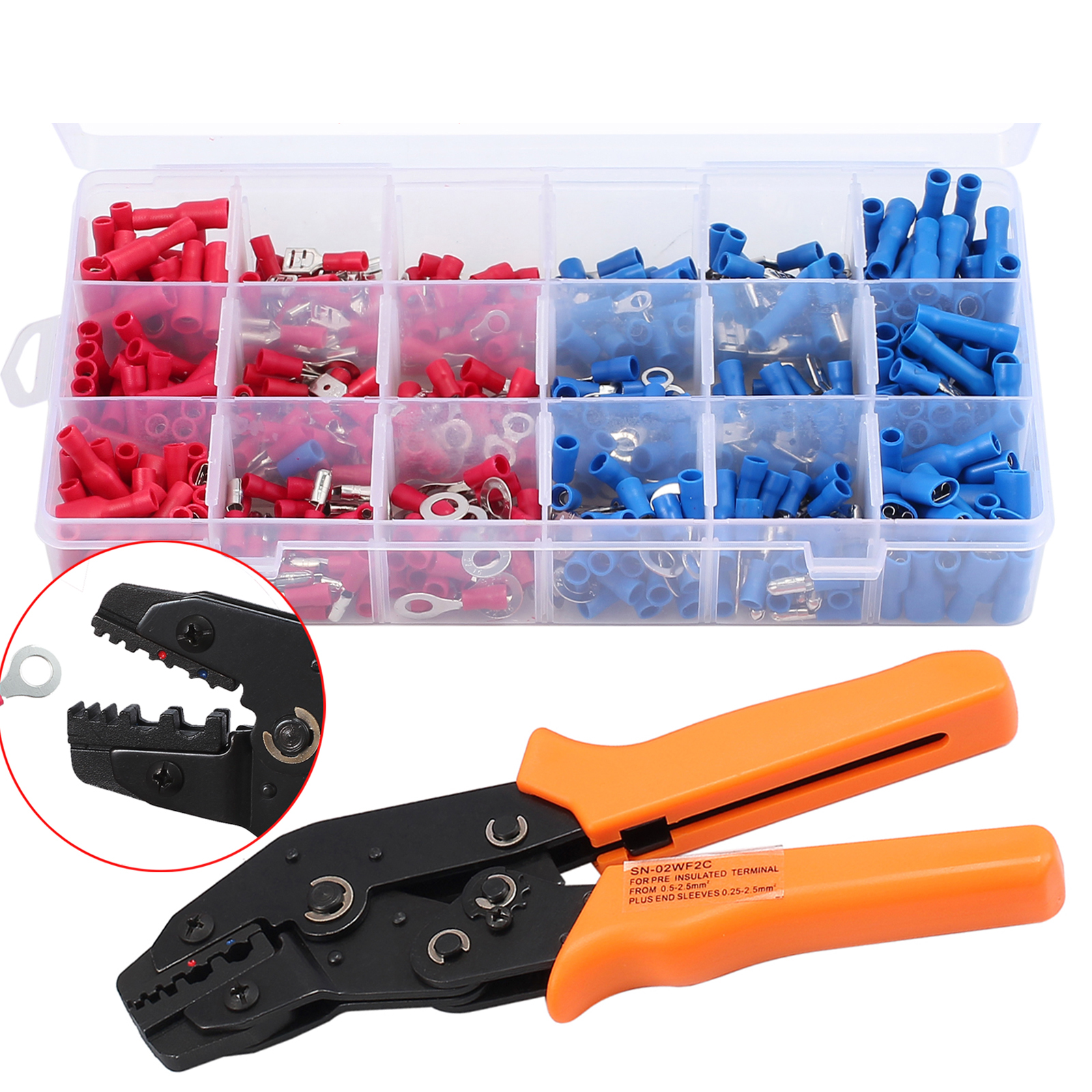 Cable Crimper Tool Wire Terminal Ratchet Plier Crimping Electrical Tool