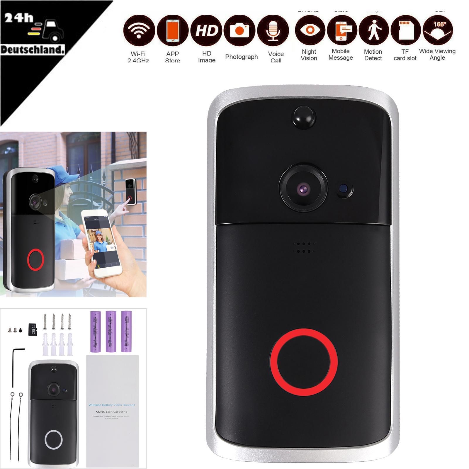 Video Doorbell Video Türklingel Funkklingel mit Kamera HD WLAN Nachtsicht
