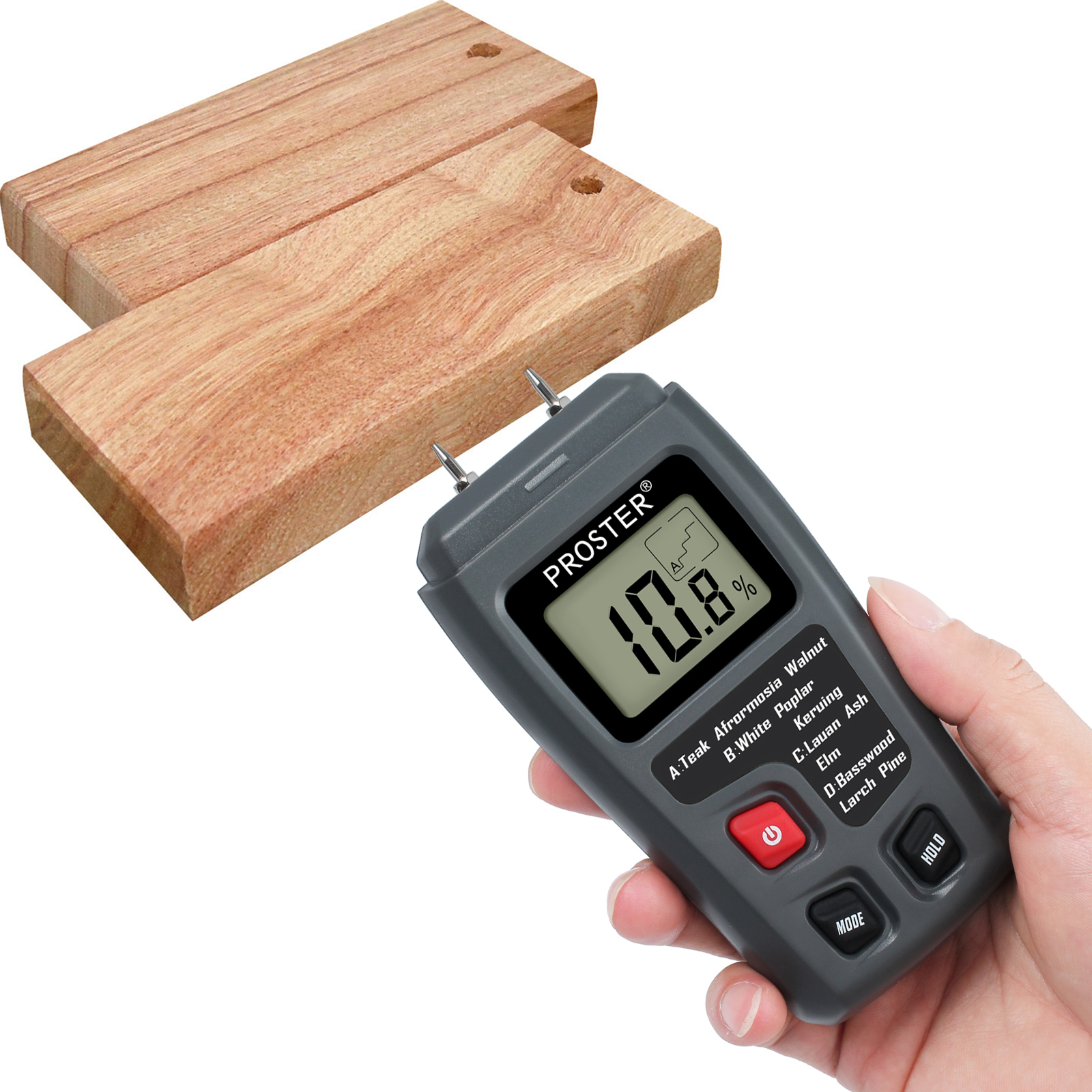 Testeur dhumidit/é num/érique en bois LCD compteur dhumidit/é compteur pour humidificateur de bois pour murs en bois de chauffage bois plancher de papier