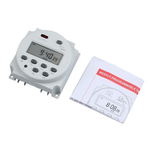 Fictory Minuterie num/érique-1pc Affichage LCD Interrupteur de Temps de Relais /électronique Programmable hebdomadaire 16 sur & 16 minuterie darr/êt 12V