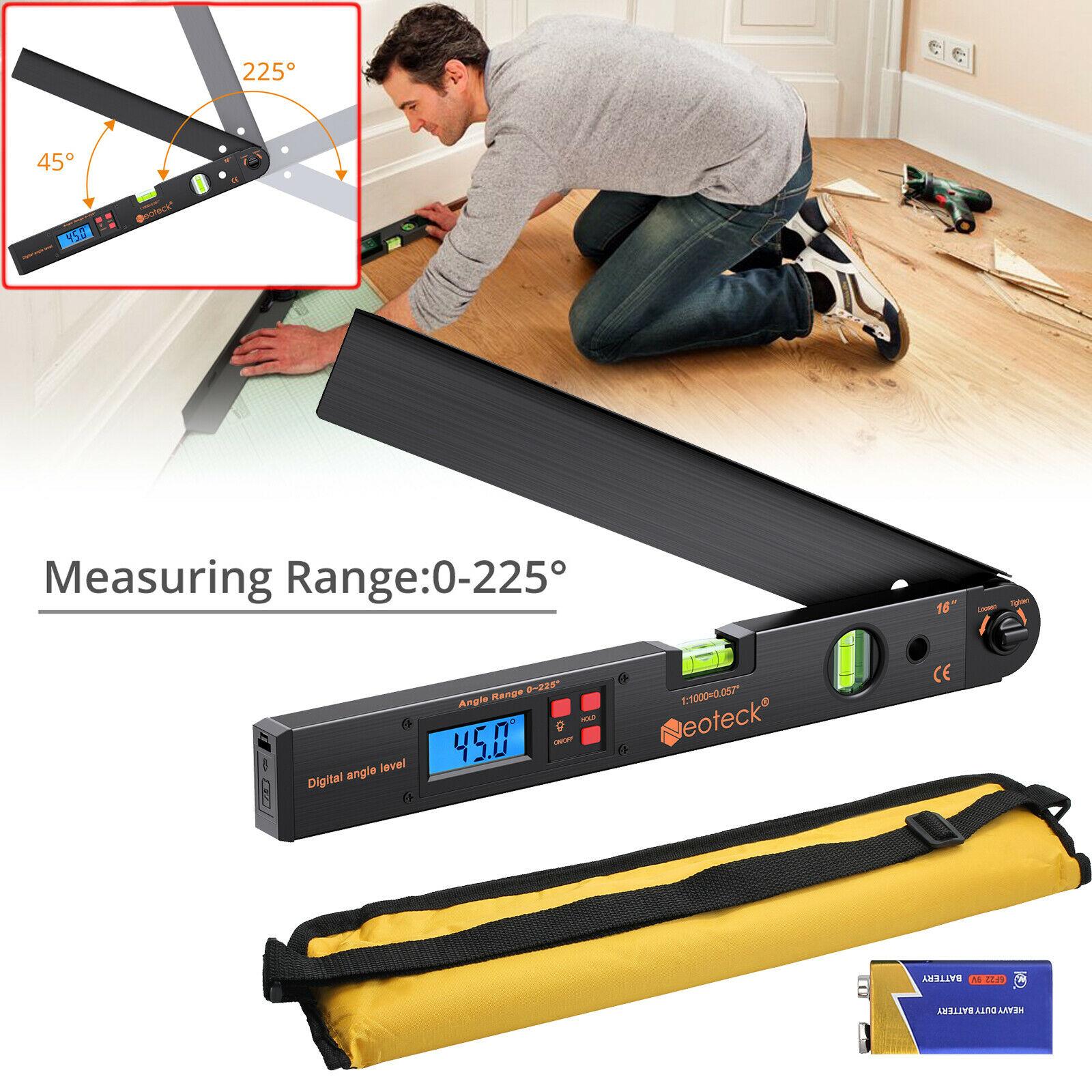 Finder Protractor Measuring Digital Angle Ruler 0-225° Meter Gauge Goniometer