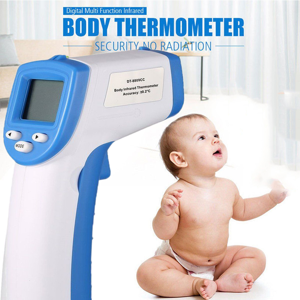 IR Infrared Digital Termometer Non-Contact Forehead Baby//Adult Body Thermometer