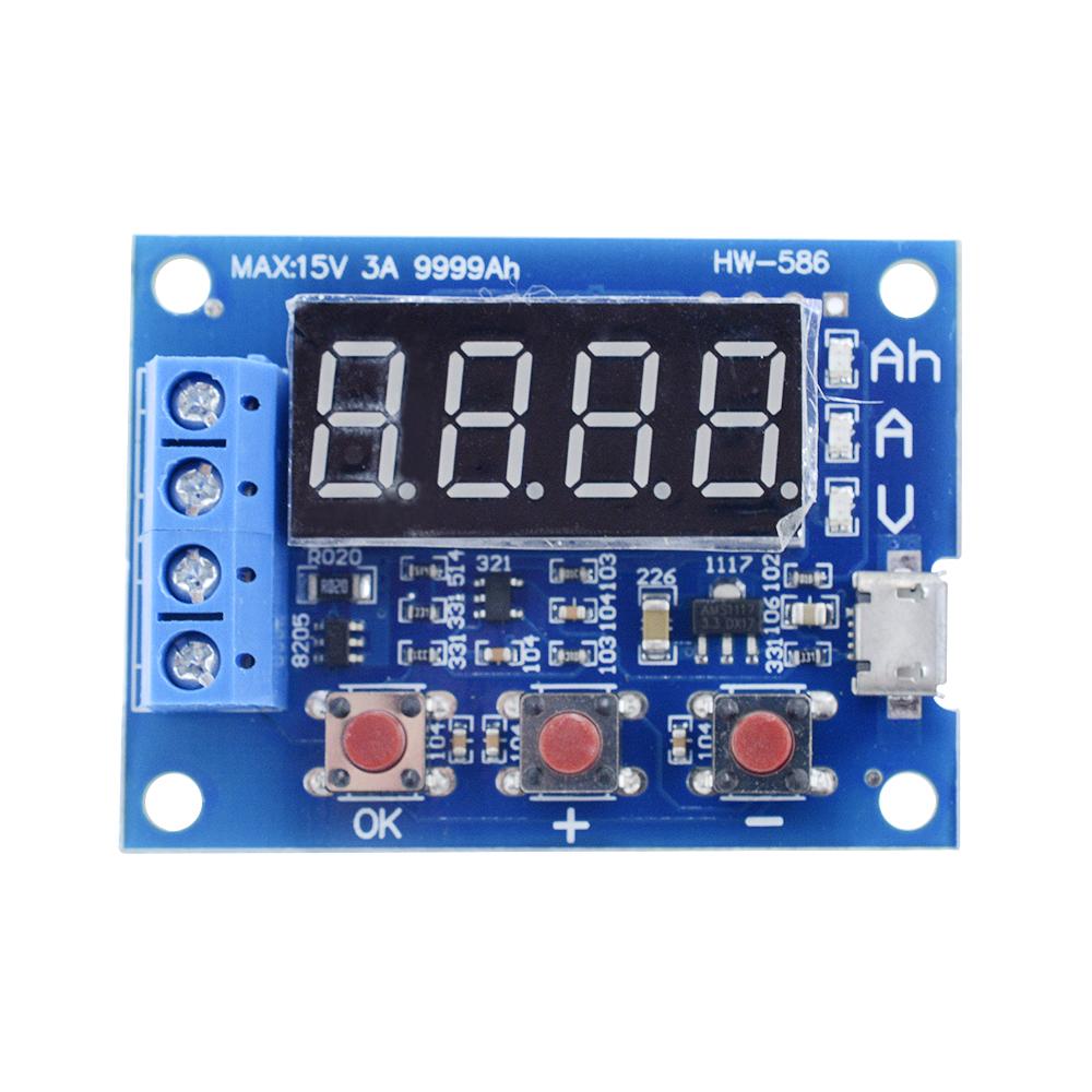 Battery Capacity Meter Discharge Tester 18650 li-ion lithium Lead-acid 1.2-12v