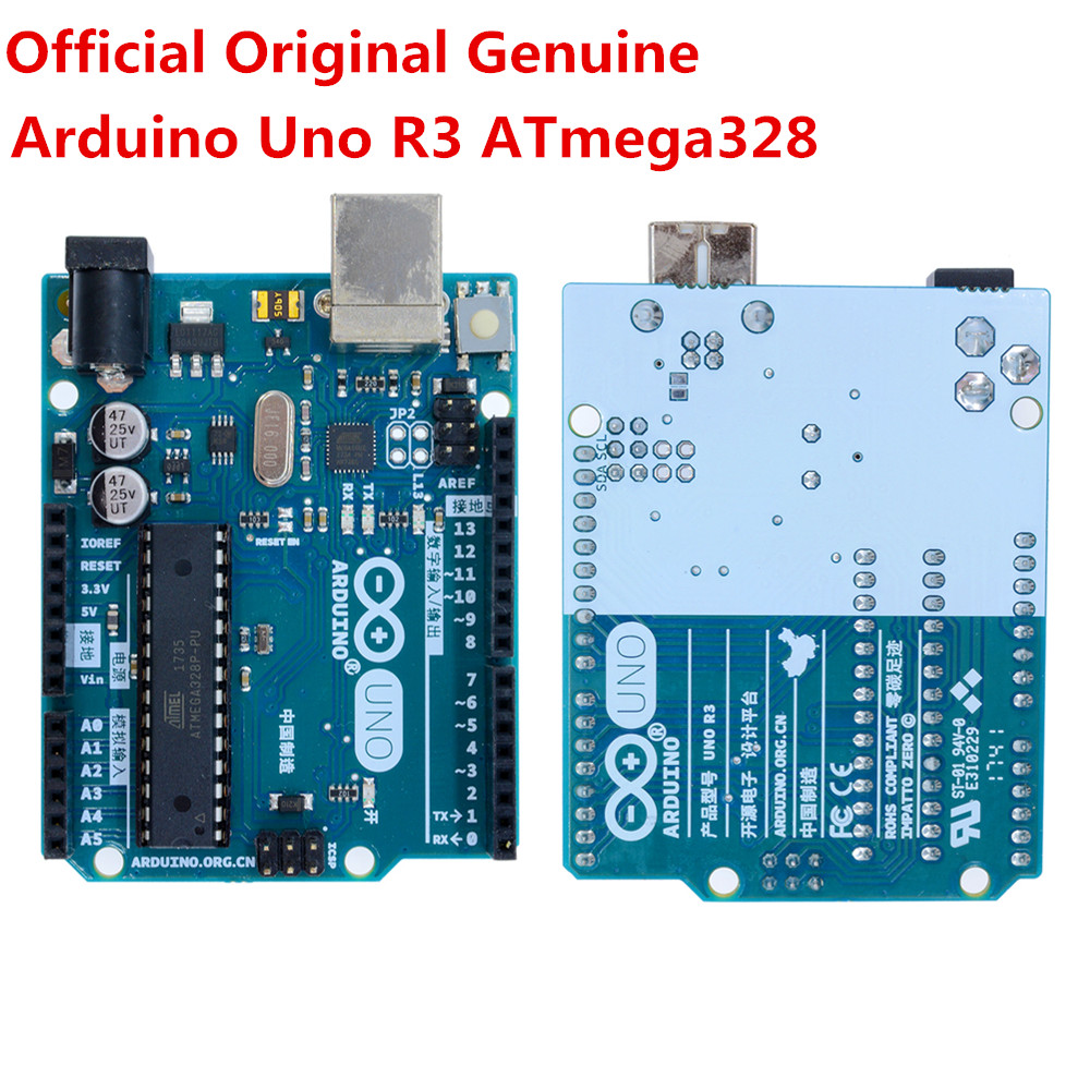 Details about Genuine Arduino Uno R3 USB ATmega328 Original Official  Board+Acrylic Case+Cable
