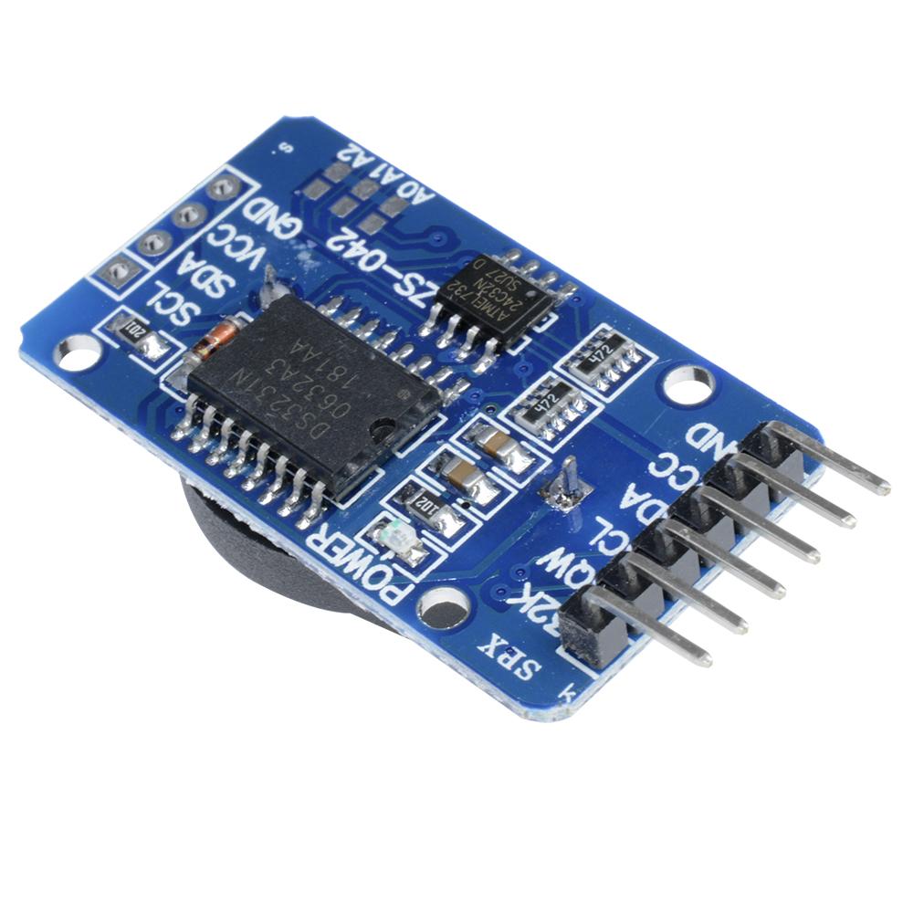 Fornateu pour Arduino DS3231 ZS042 AT24C32 IIC de pr/écision pour Le Module de pr/écision RTC Horloge en Temps r/éel M/émoire Nouveau