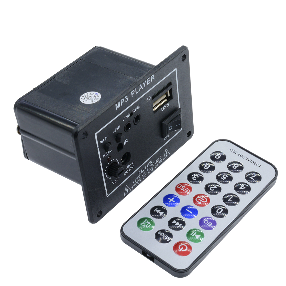 1635 Remote Control FM USB SD DC 12V Audio Power Amplifier Stereo Amplifier