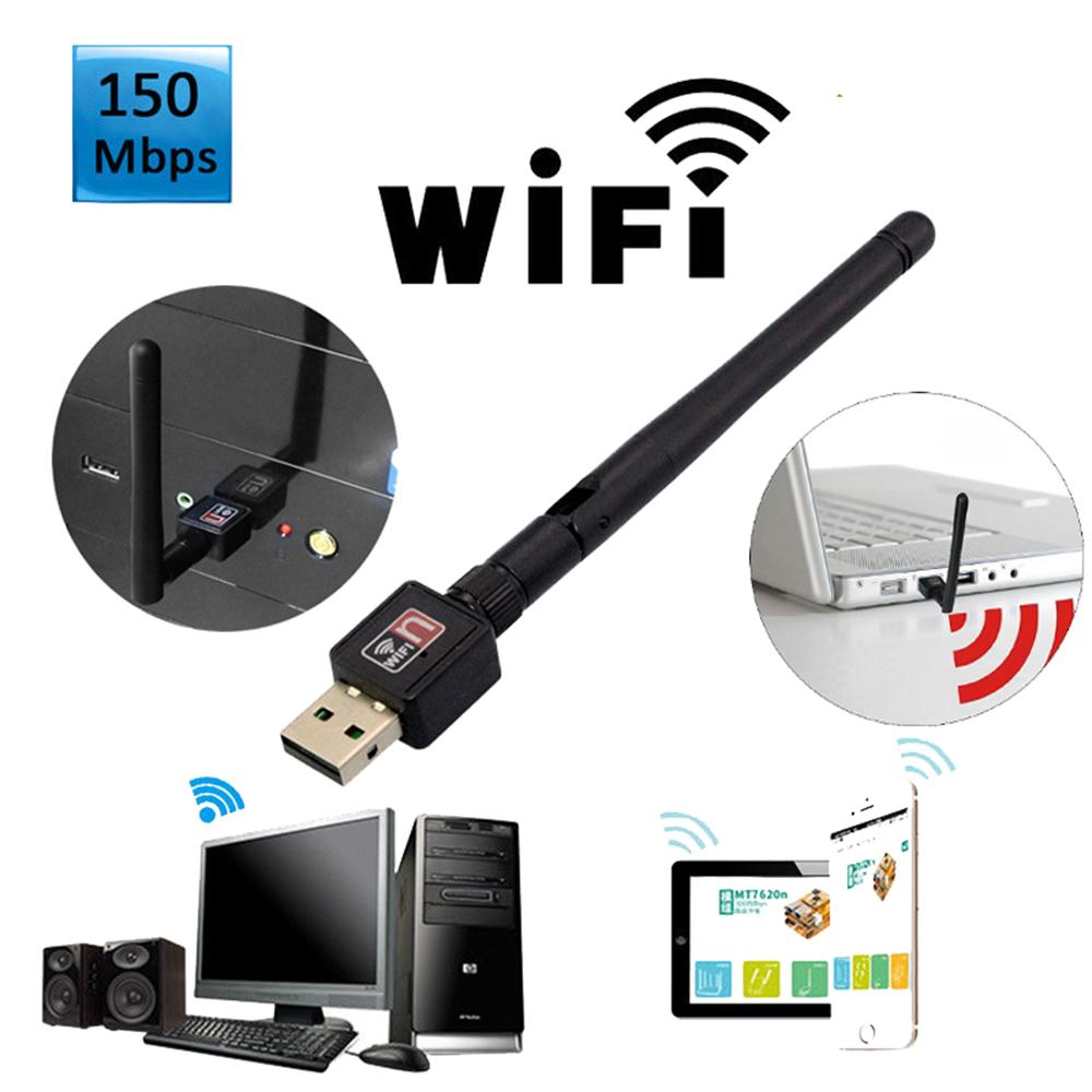 Mini 150Mbps USB WiFi Wireless Adapter Dongle LAN Card 802.11n//g//b w//Antenna