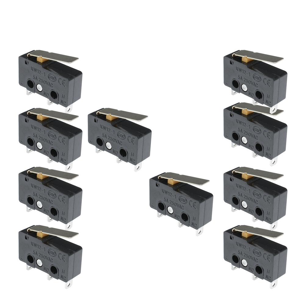 Chic 10PCS Taktschalter KW11-3Z 5A 250V Microswitch 3PIN Gürtelschnalle