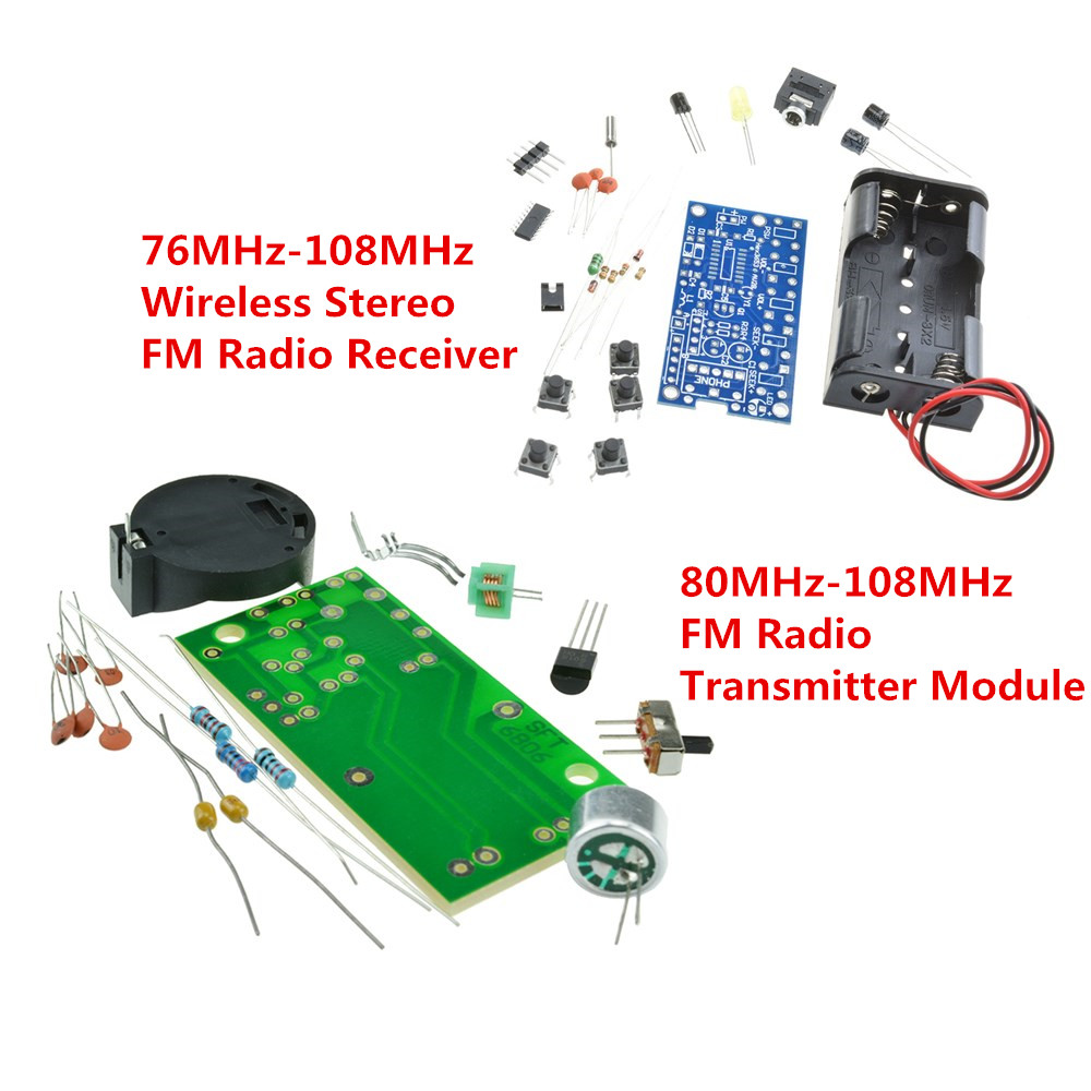 Details about FM Radio Wireless Receiver Module Frequency Modulation  Microphone PCB DIY Kits