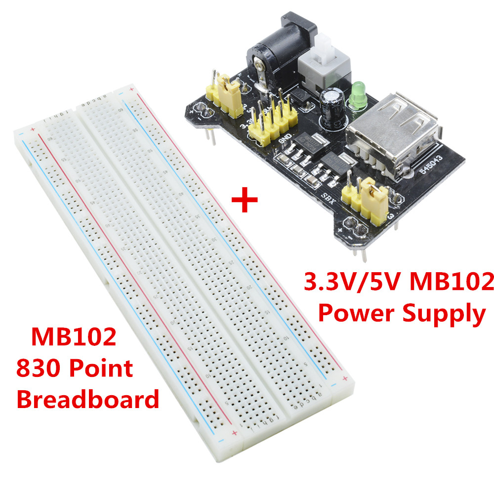 Mb102 Breadboard Power Supply Module 33v 5v Arduino Board Choosing A Electronics Kit For Kids Compatible With 5 V 33 Apply To