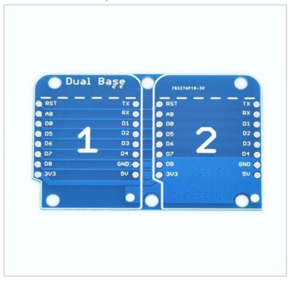 1//2//5PCS WeMos D1 Mini NodeMCU Socket Dual Base Shield for Arduino ESP8266