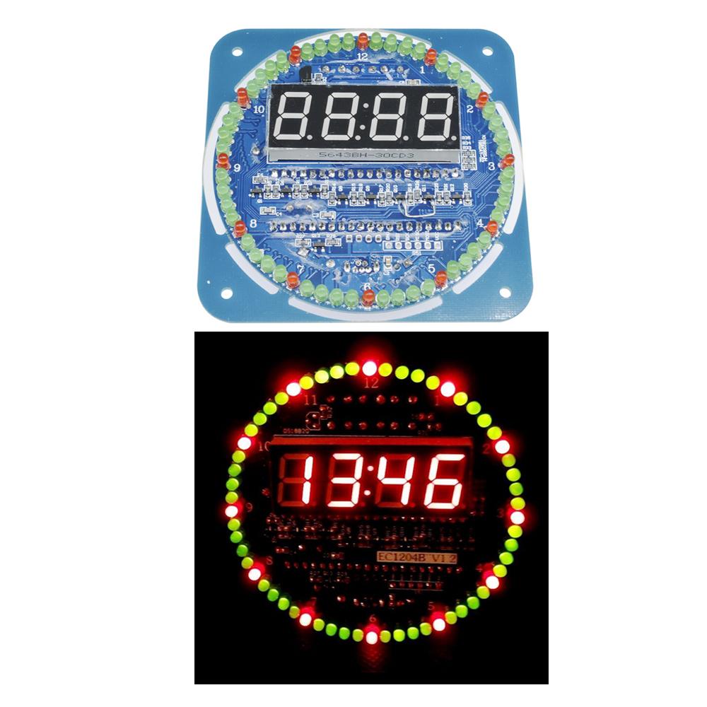 DS1302 Rotating LED Electronic Digital Clock 51 Learning Board 5V DIY//Assembled