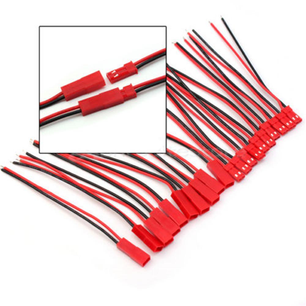 10x JST BEC mâle avec câble 10 cm