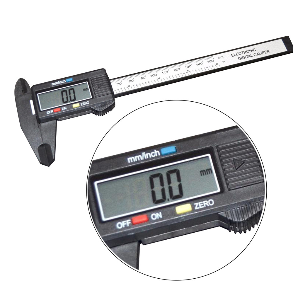 Digital Electronic Carbon Fiber Vernier Calipers Gauge Micrometer with Large LCD