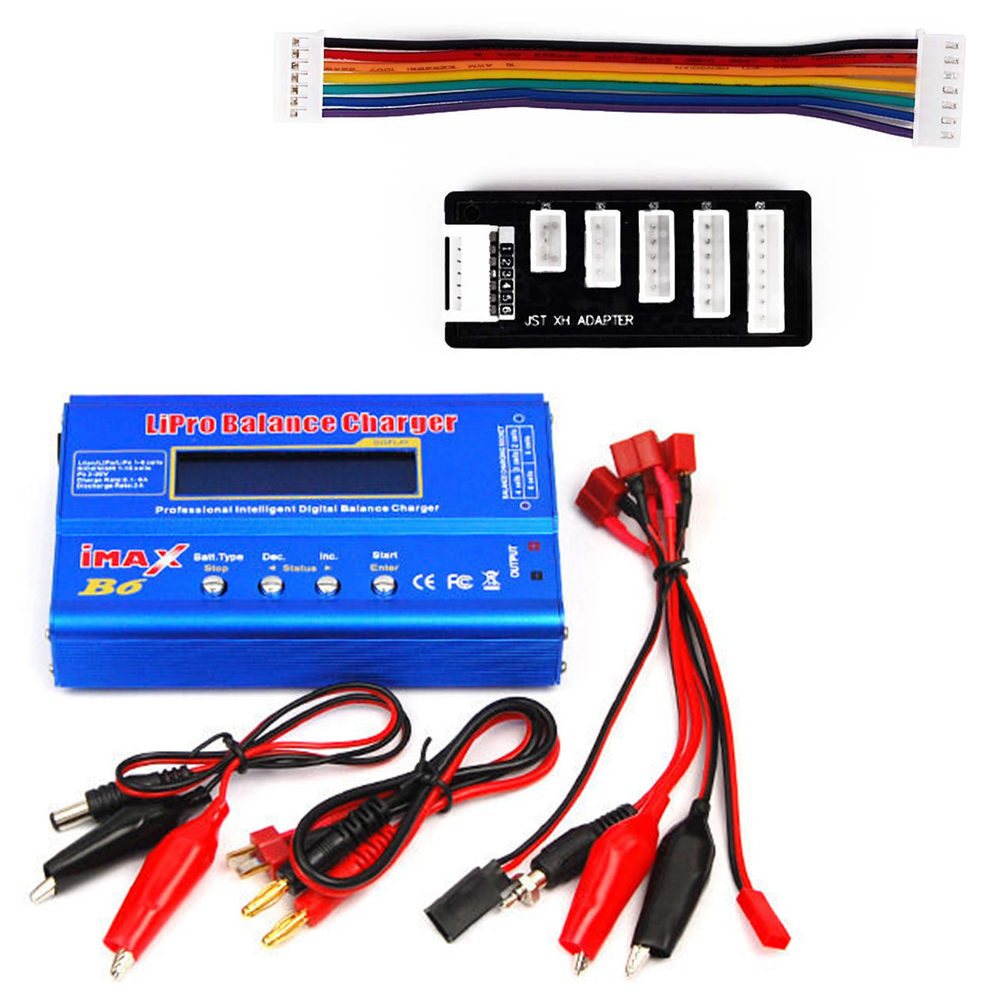iMAX B6 LCD  RC Lipo NiMH Battery Balance Charger With T Plug Connetor Cable