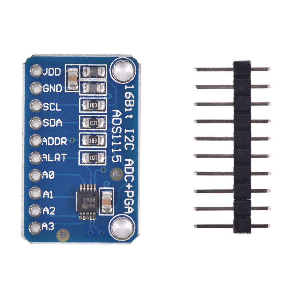 1PC I2C ADS1115 16 Bit ADC 4 Channel Module with Programmable Gain Amplifier for Arduino RPi Board