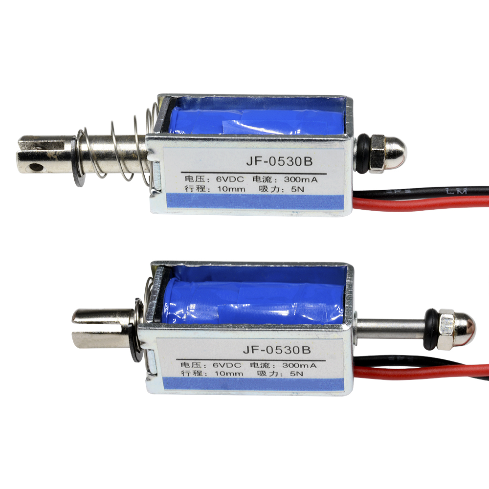10pcs JF-0530B DC6V 300mA 5N//10mm Steady Pull-Push-Type Solenoid Electromagnet