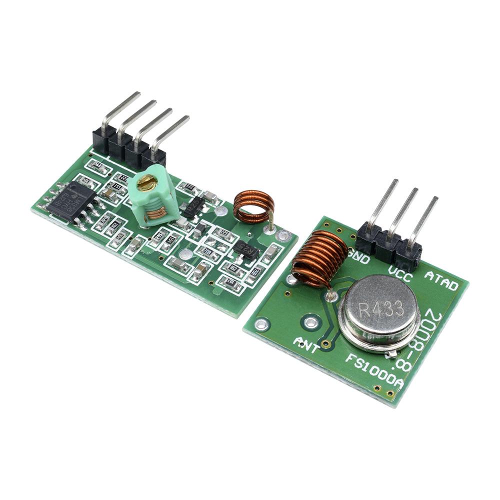 Details about 433Mhz Wireless RF Transmitter Module+ Receiver Alarm Super  Regeneration Arduino