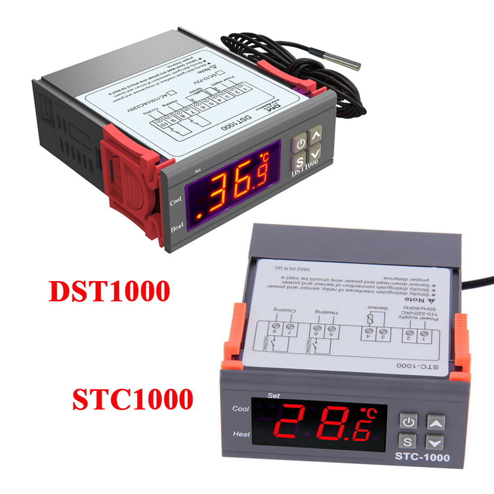 DST1000 DC12-72V//AC110-220V Thermostat Temperature Controller With DS18B20 Probe