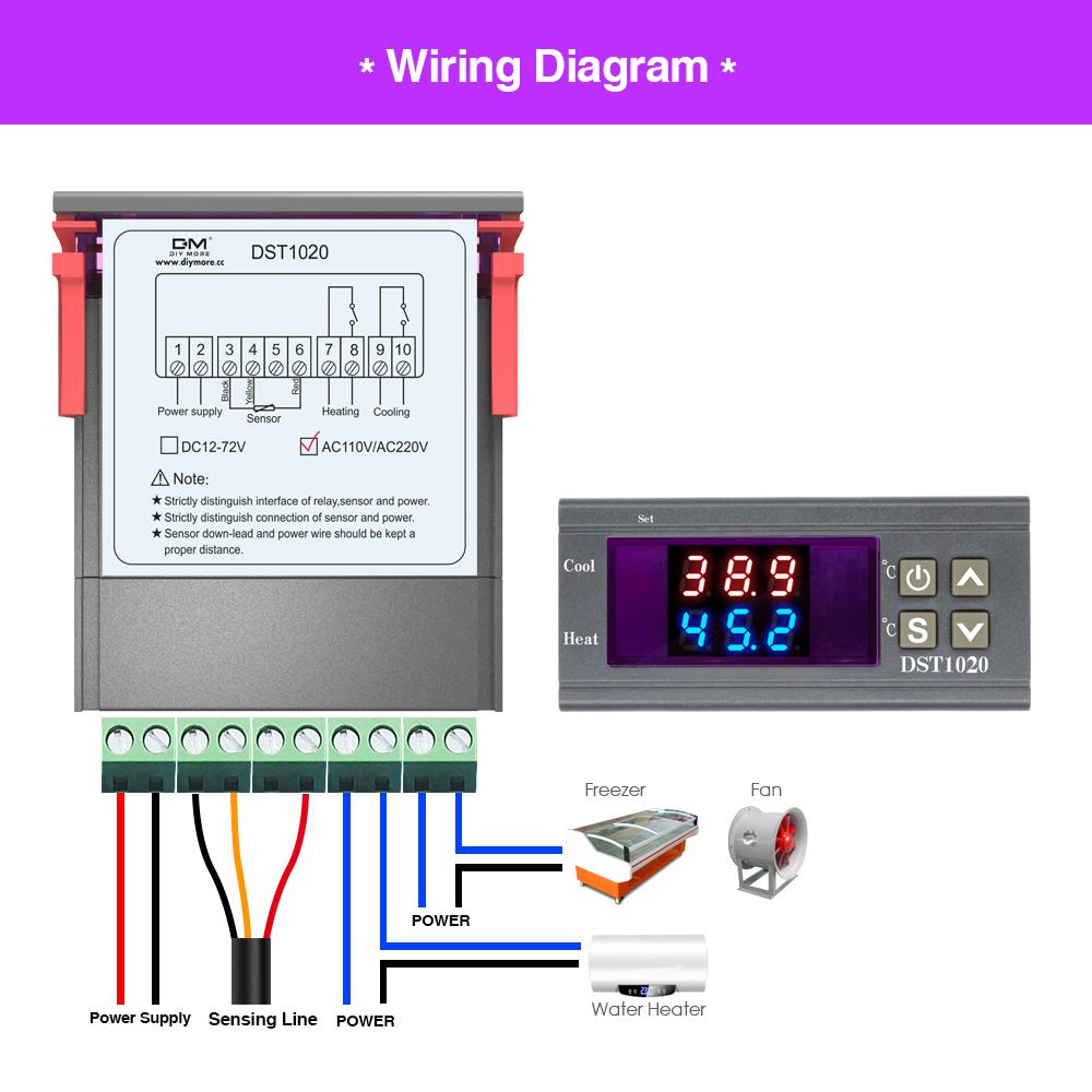 AC 110-230V DST1020 Digital Thermostat Temperature