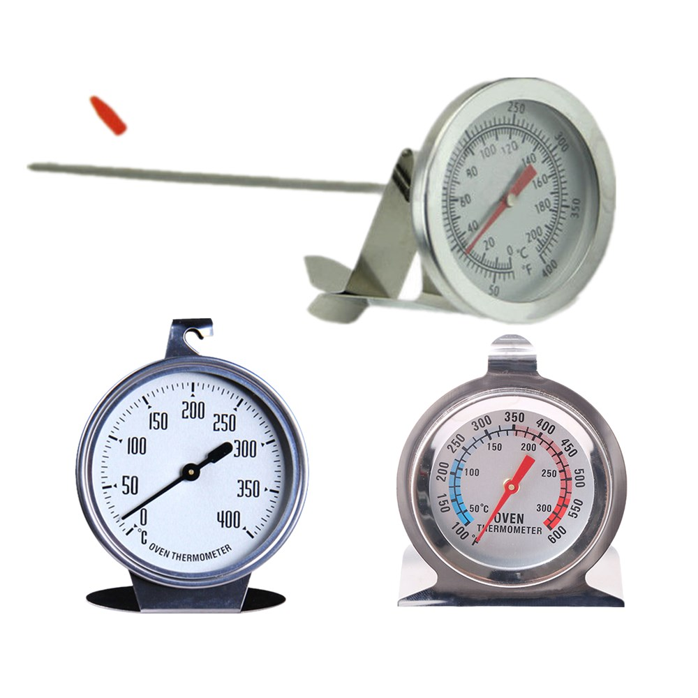 200//300//400℃ Stainless Oven//Grill Thermometer Steel Cooking BBQ Food Meat Gauge